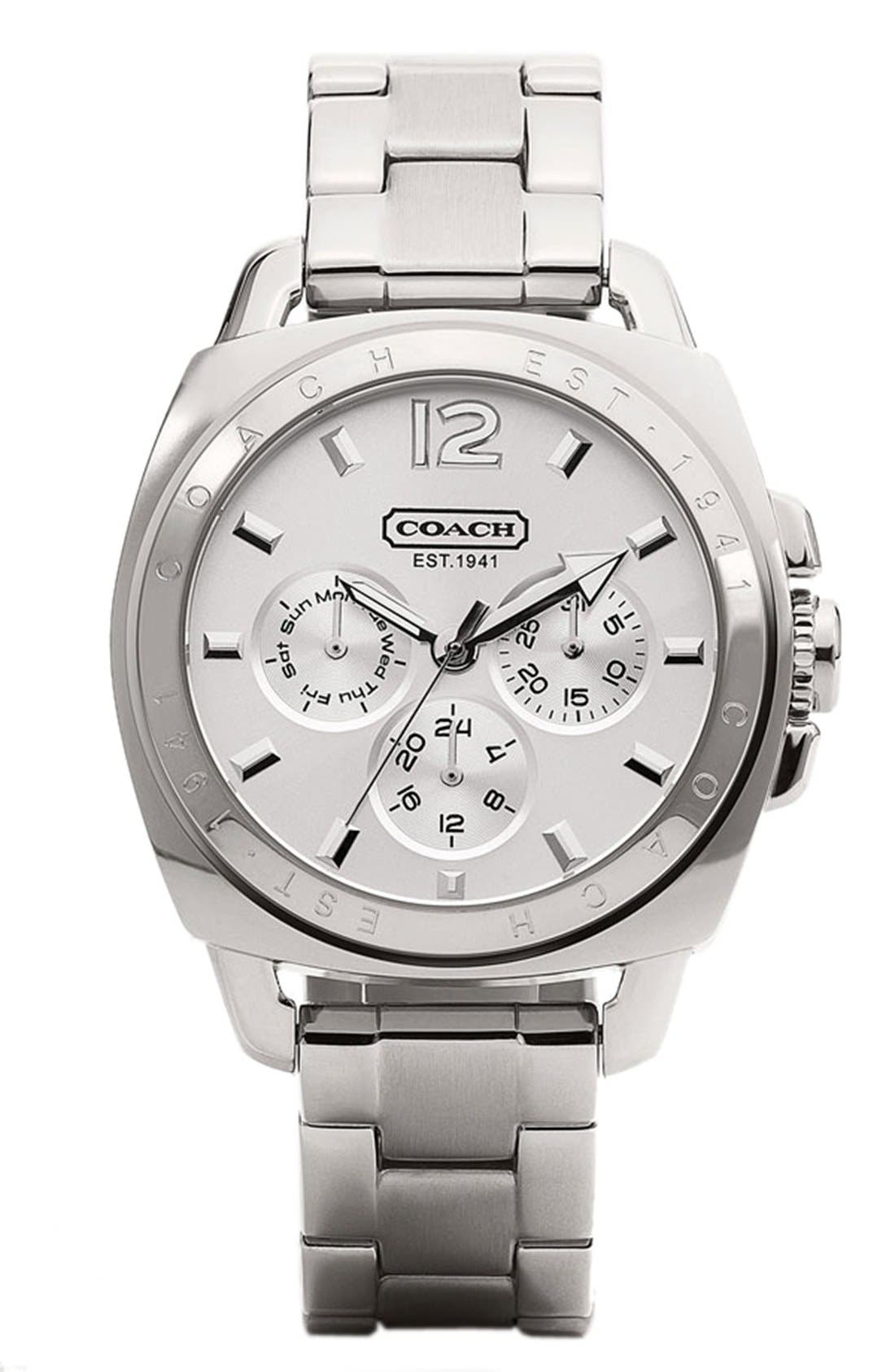 Main Image - COACH 'Boyfriend' Bracelet Watch, 38mm