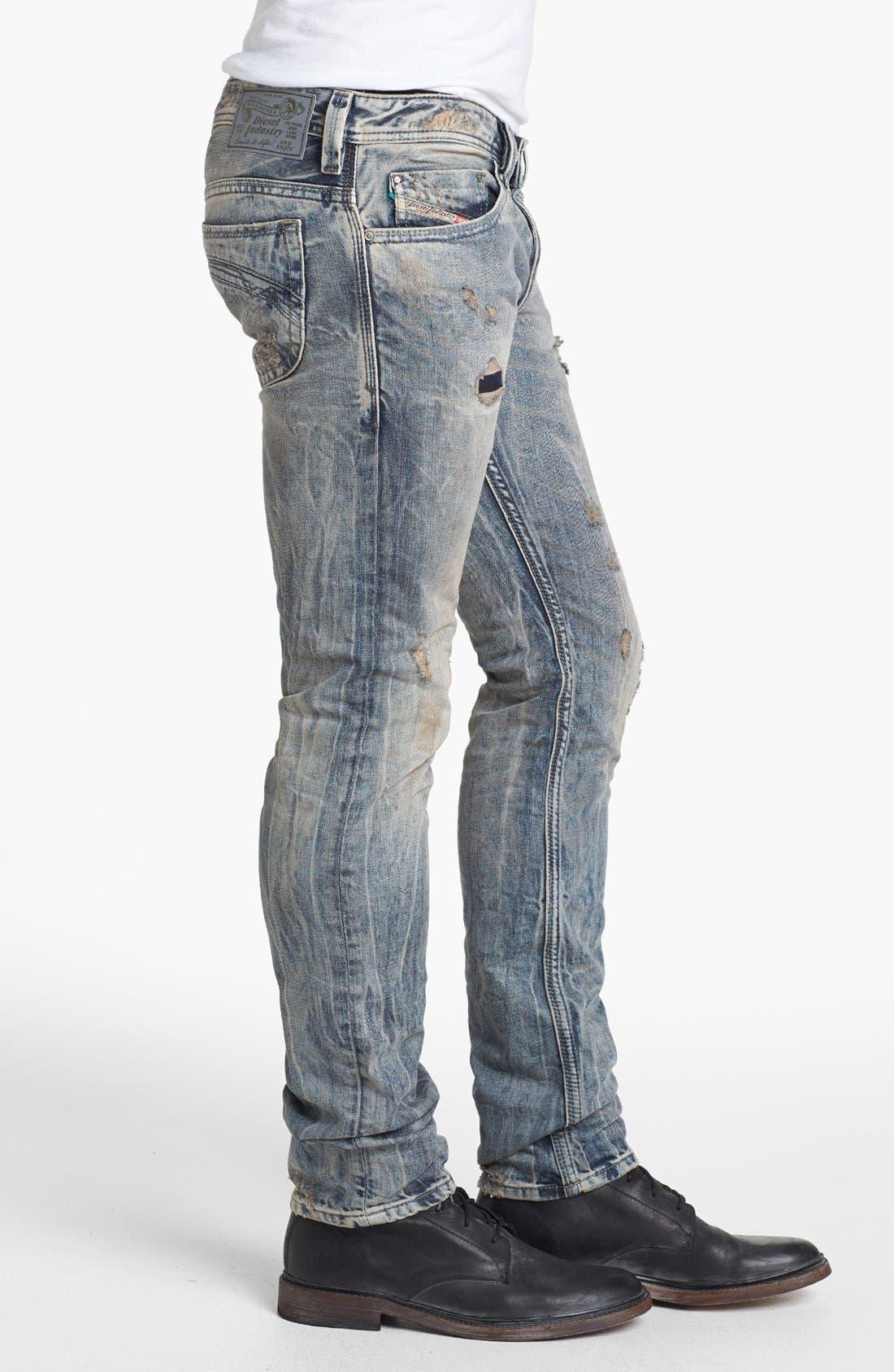 Alternate Image 3  - DIESEL® 'Thanaz' Skinny Fit Jeans (0813Z)