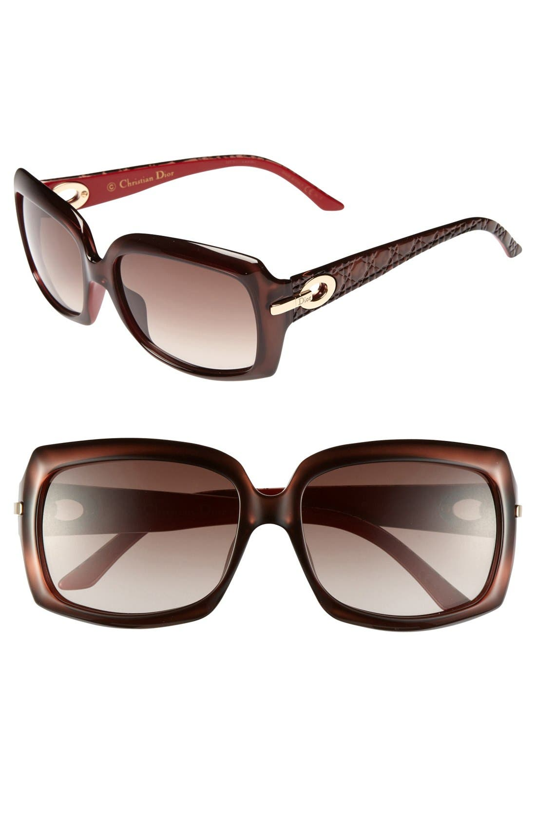 Alternate Image 1 Selected - Dior 'My Lady Dior - 6' 57mm Square Sunglasses
