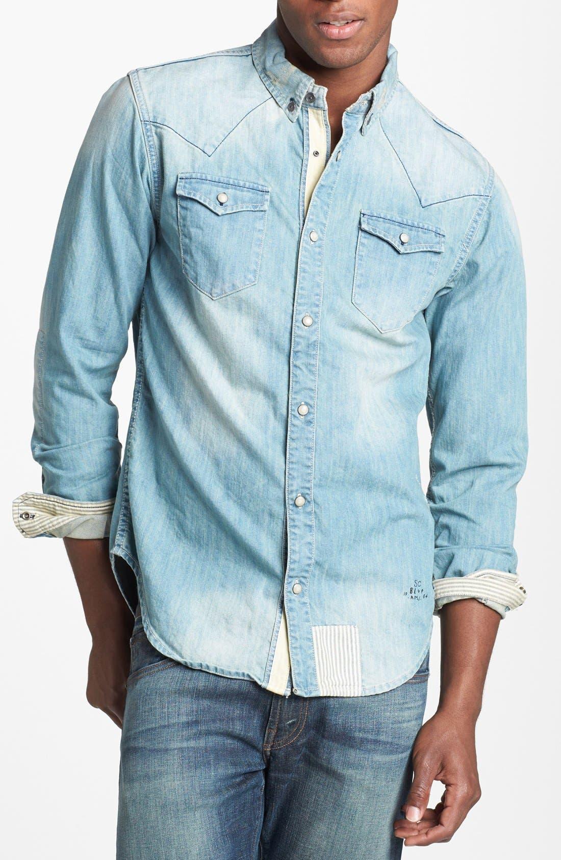 Main Image - Scotch & Soda Western Denim Shirt