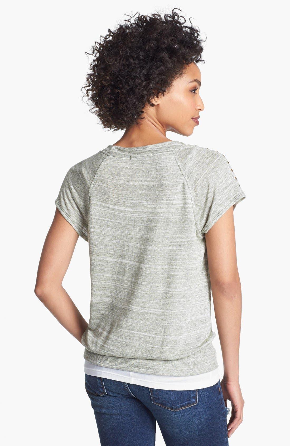 Alternate Image 2  - Olivia Moon Studded Shoulder Tee