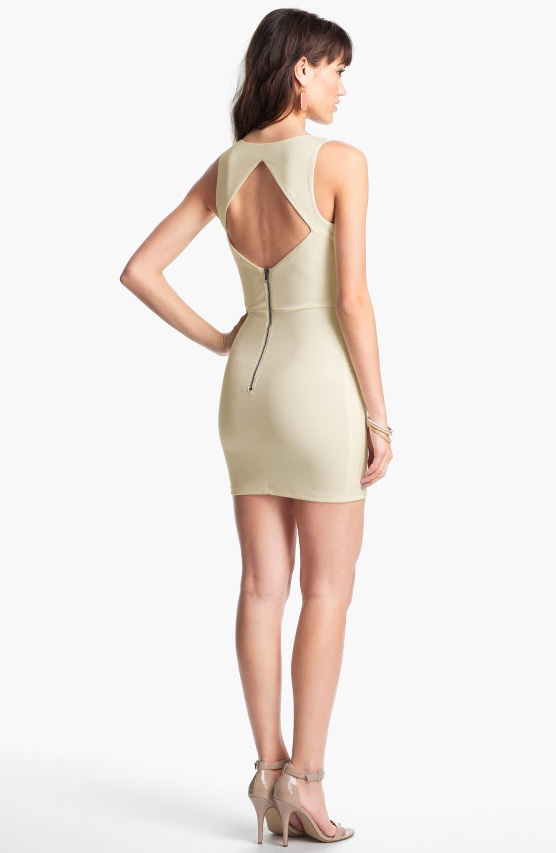 Alternate Image 2  - En Crème Sequin Panel Body-Con Dress (Juniors)