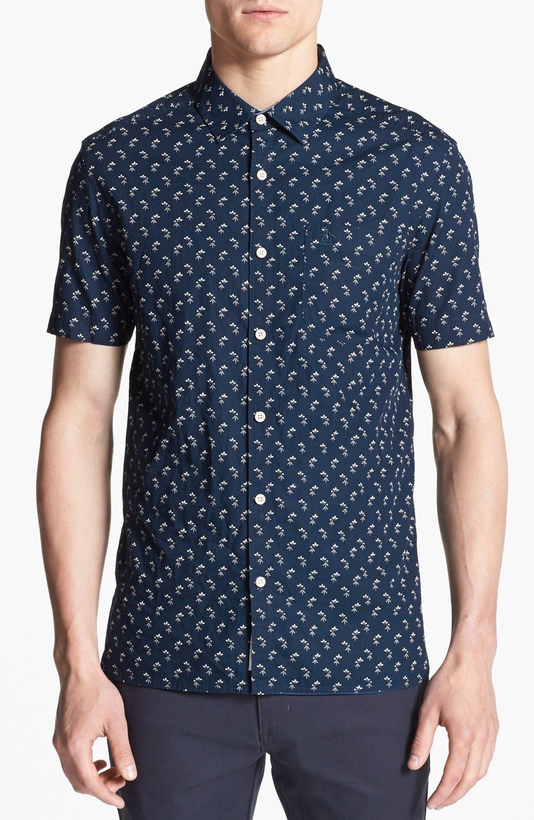 Alternate Image 1 Selected - Original Penguin 'Industry Geo' Slim Fit Print Woven Shirt