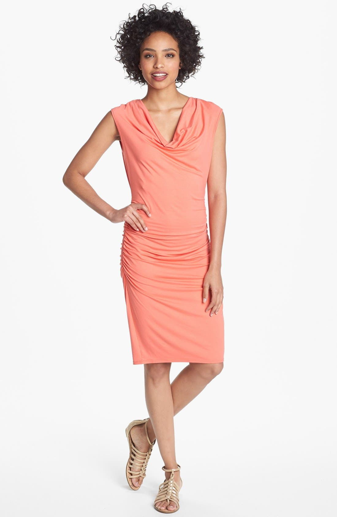 Main Image - Three Dots Cowl Neck Jersey Sheath Dress