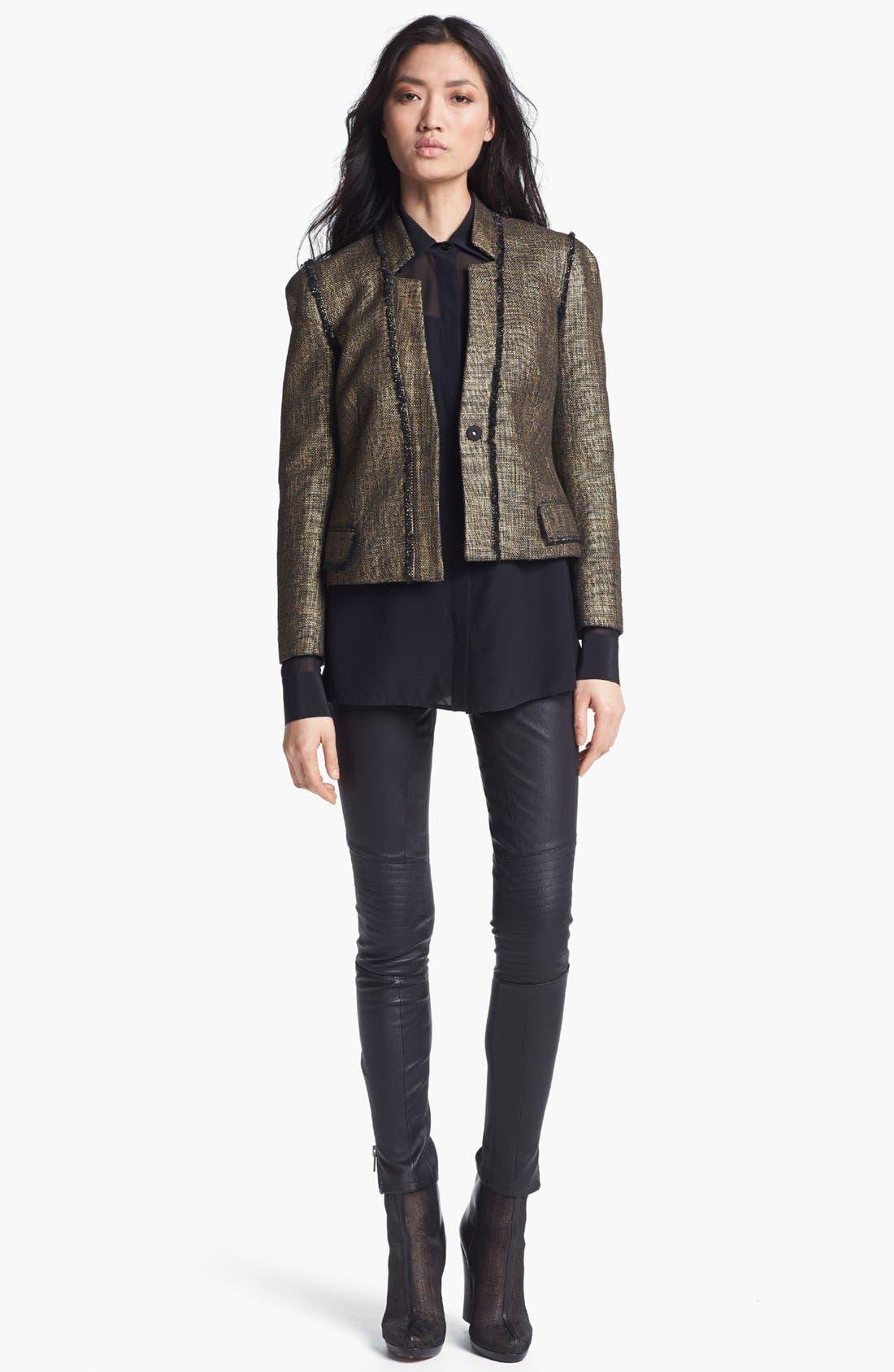 Alternate Image 4  - Rachel Zoe 'Maxine' Skinny Stretch Leather Pants