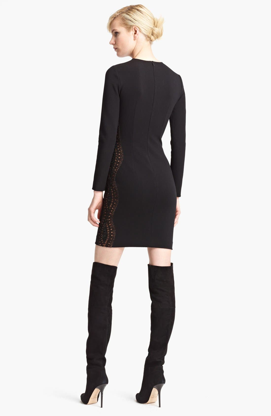 Alternate Image 2  - Emilio Pucci Embroidered Punto Milano Dress