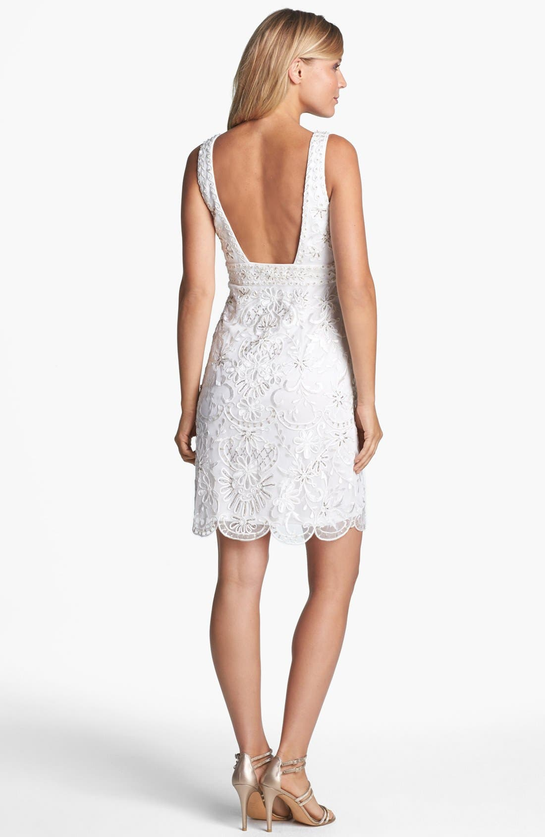 Alternate Image 2  - Sue Wong Open Back Embroidered Lace Dress