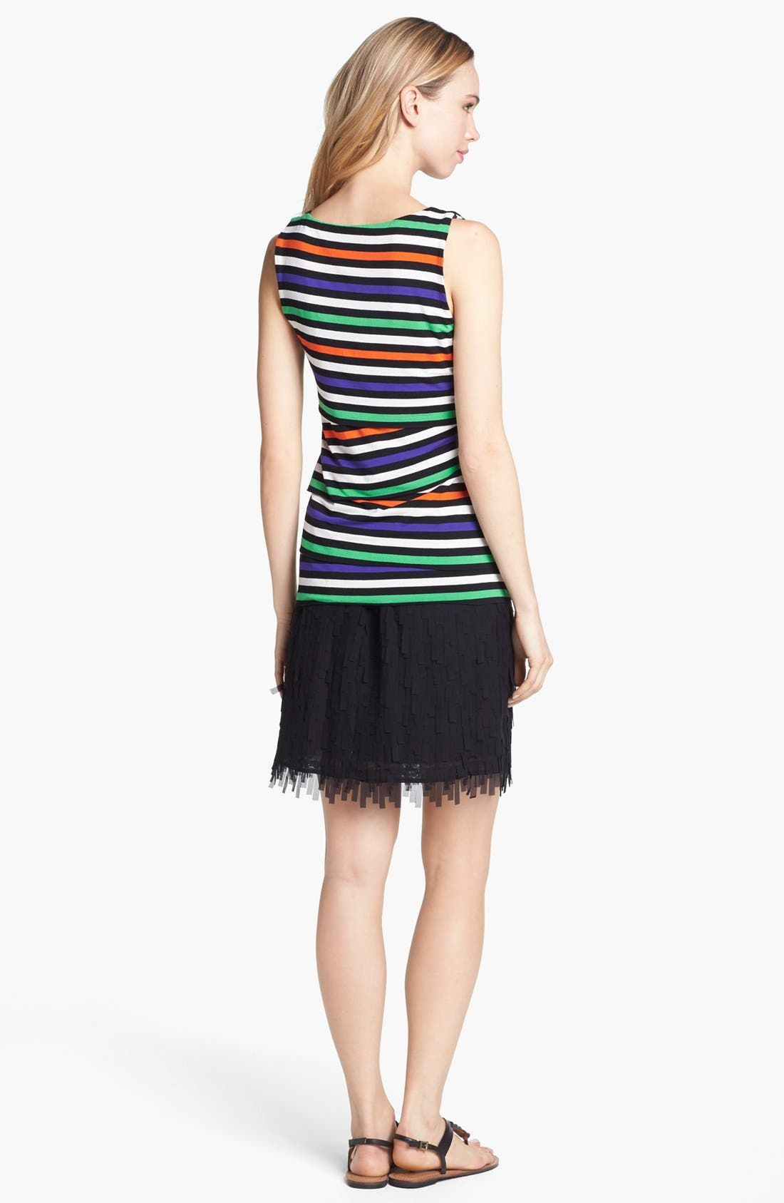 Alternate Image 5  - Vince Camuto Variegated Stripe Tiered Tank