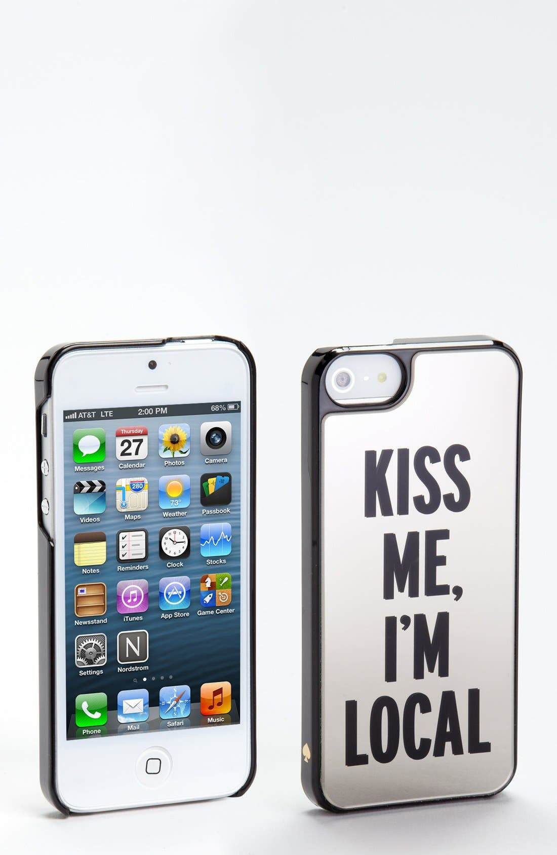 Alternate Image 1 Selected - kate spade new york 'kiss me, i'm local' iPhone 5 & 5s case