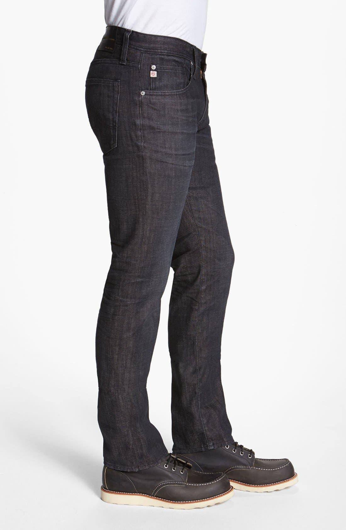 Alternate Image 3  - AG 'Matchbox' Slim Fit Jeans (1 Year Black)