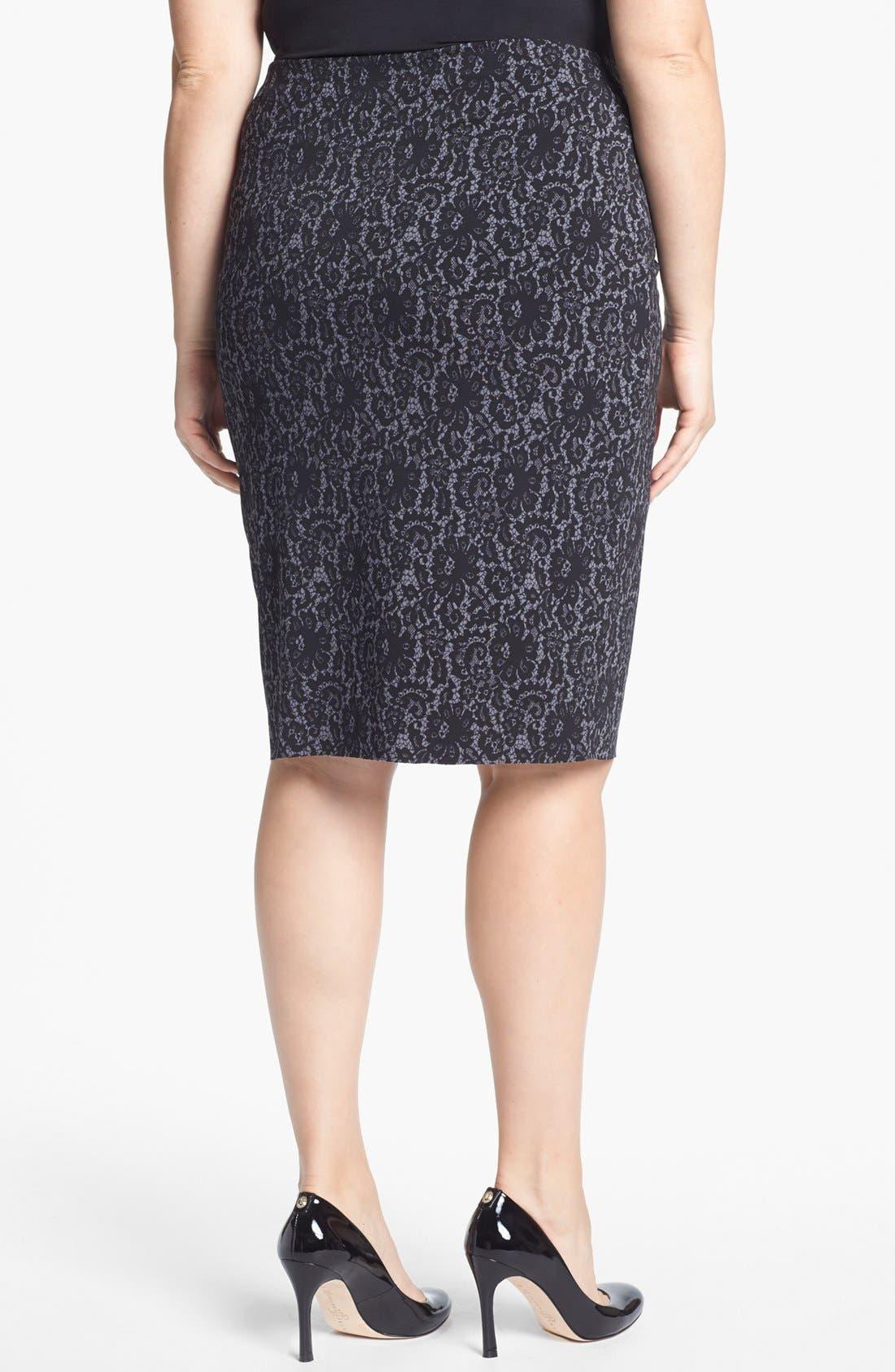 Alternate Image 2  - Vince Camuto Midi Tube Skirt (Plus Size)