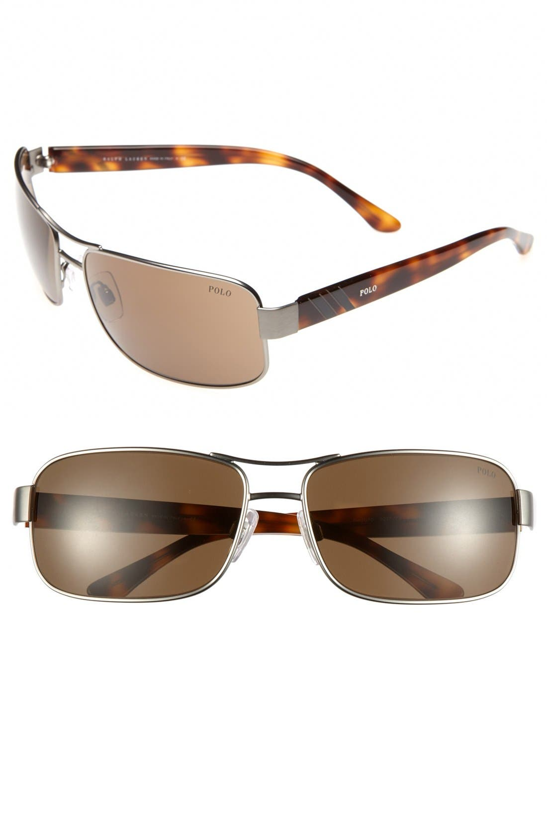 Alternate Image 1 Selected - Polo Ralph Lauren 64mm Double Stripe Sunglasses