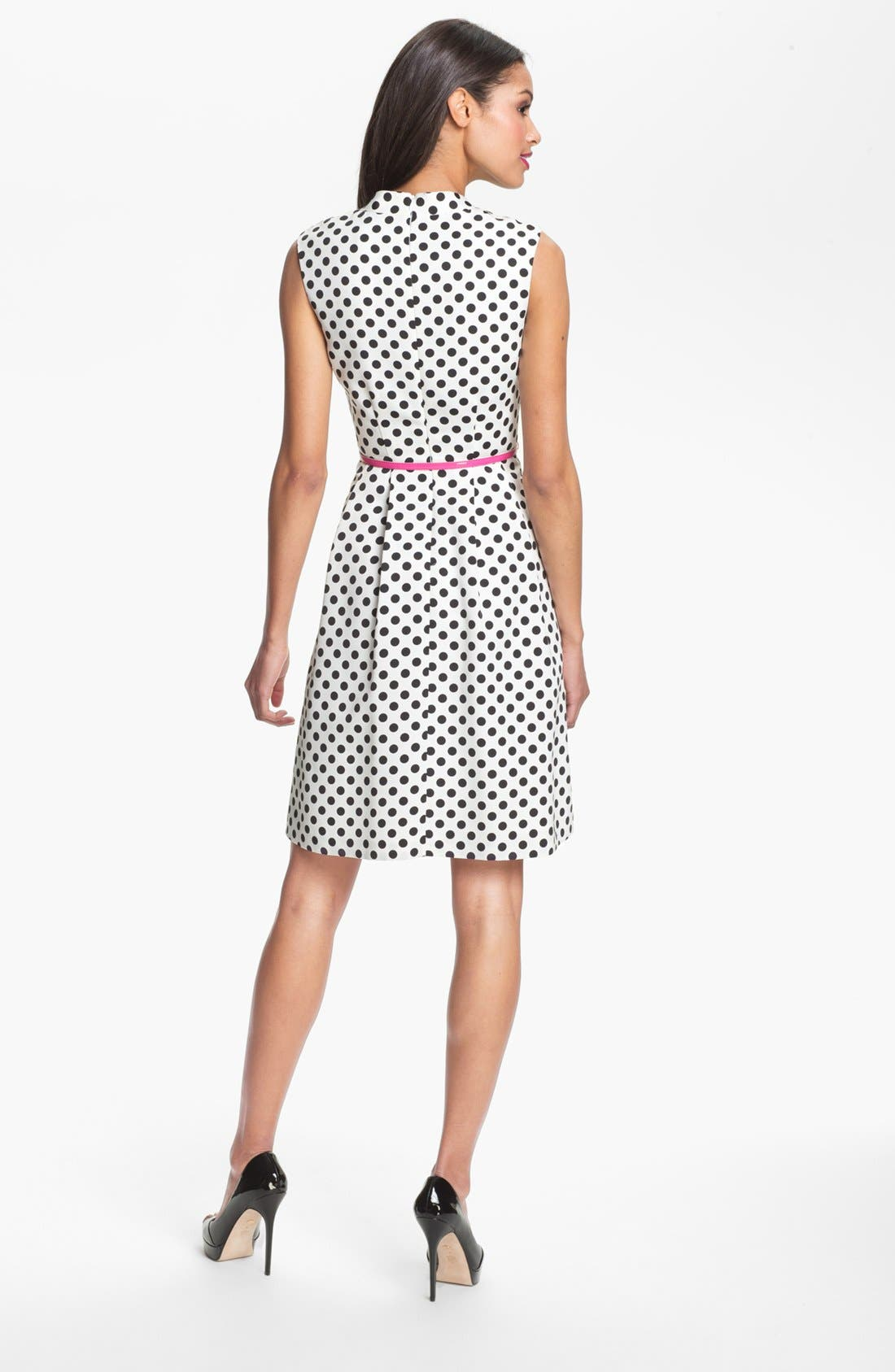 Alternate Image 2  - Adrianna Papell Polka Dot Fit & Flare Dress (Petite)