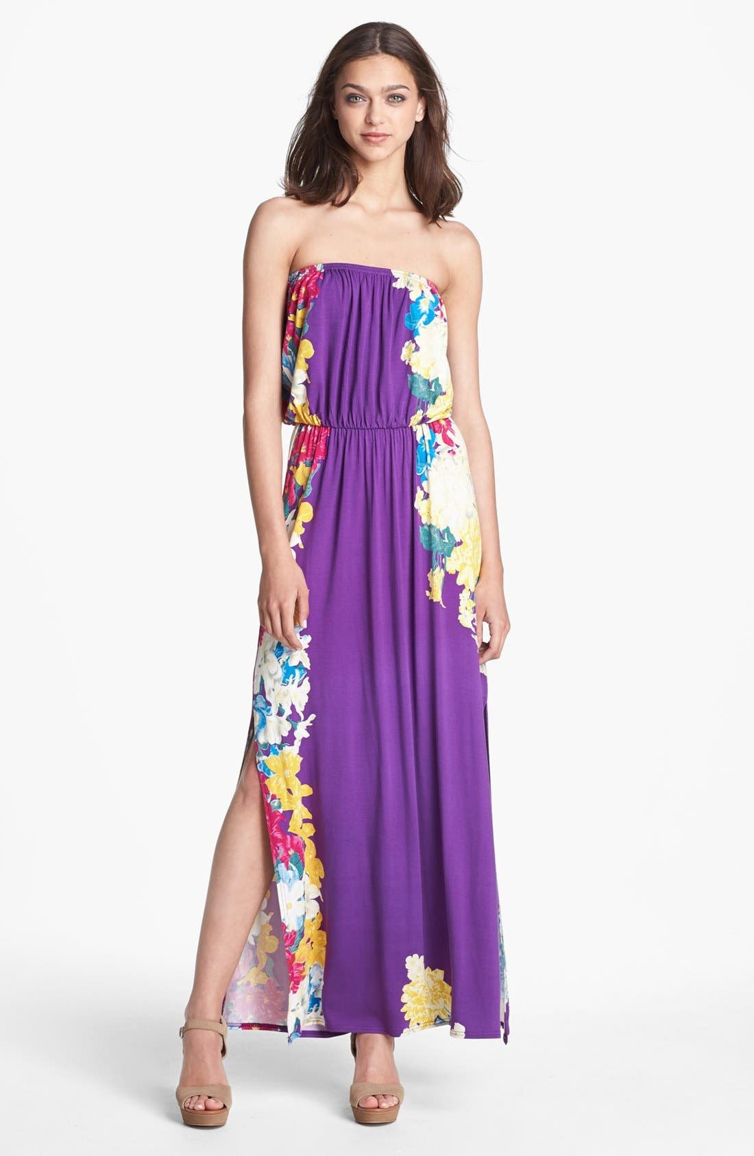 Main Image - Felicity & Coco Print Jersey Maxi Dress (Regular & Petite) (Nordstrom Exclusive)