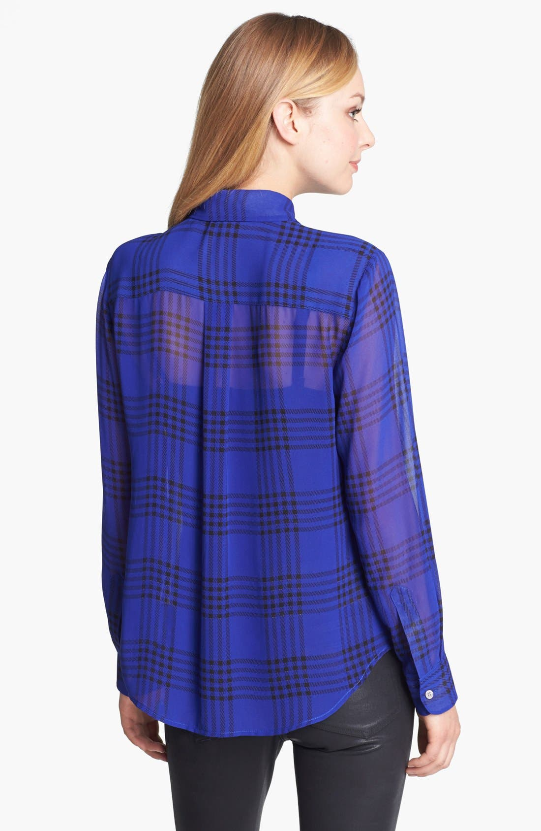 Alternate Image 2  - Vince Camuto Plaid Chiffon Blouse (Online Only)