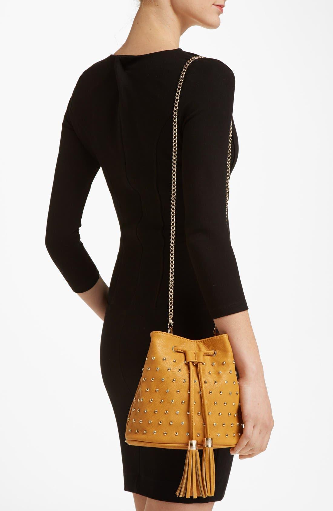 Alternate Image 2  - Emperia Studded Faux Leather Drawstring Bag