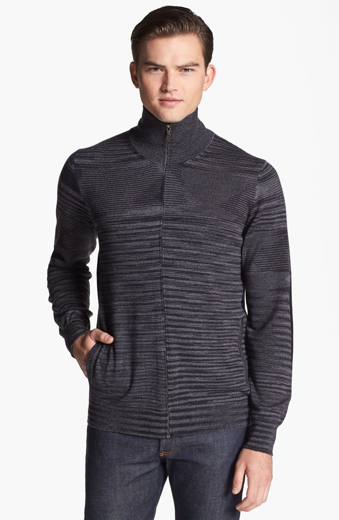 Main Image - Missoni Space Dyed Wool Zip Sweater