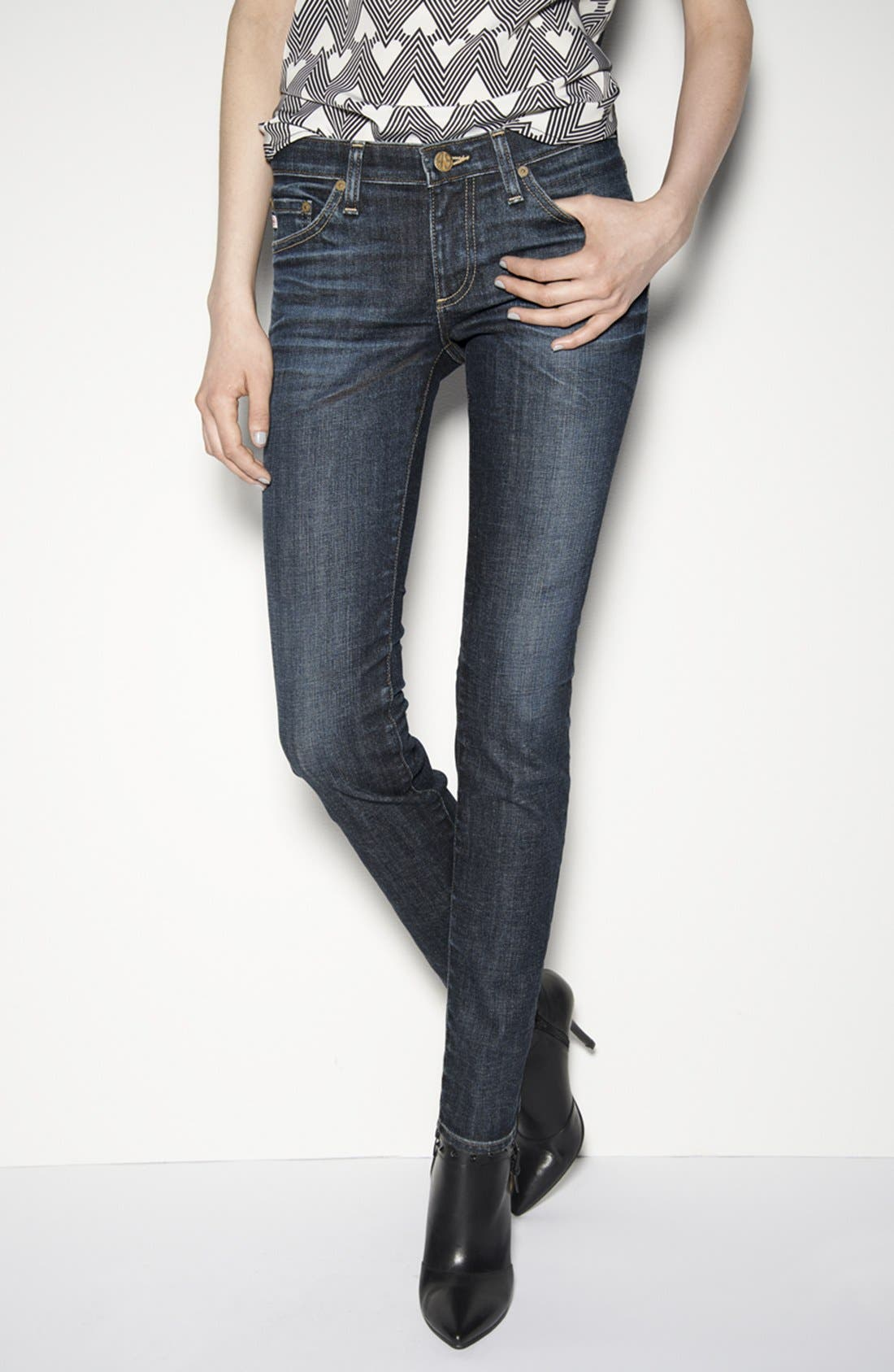 Alternate Image 6  - AG 'The Stilt' Cigarette Leg Stretch Jeans (4 Year Coastline)