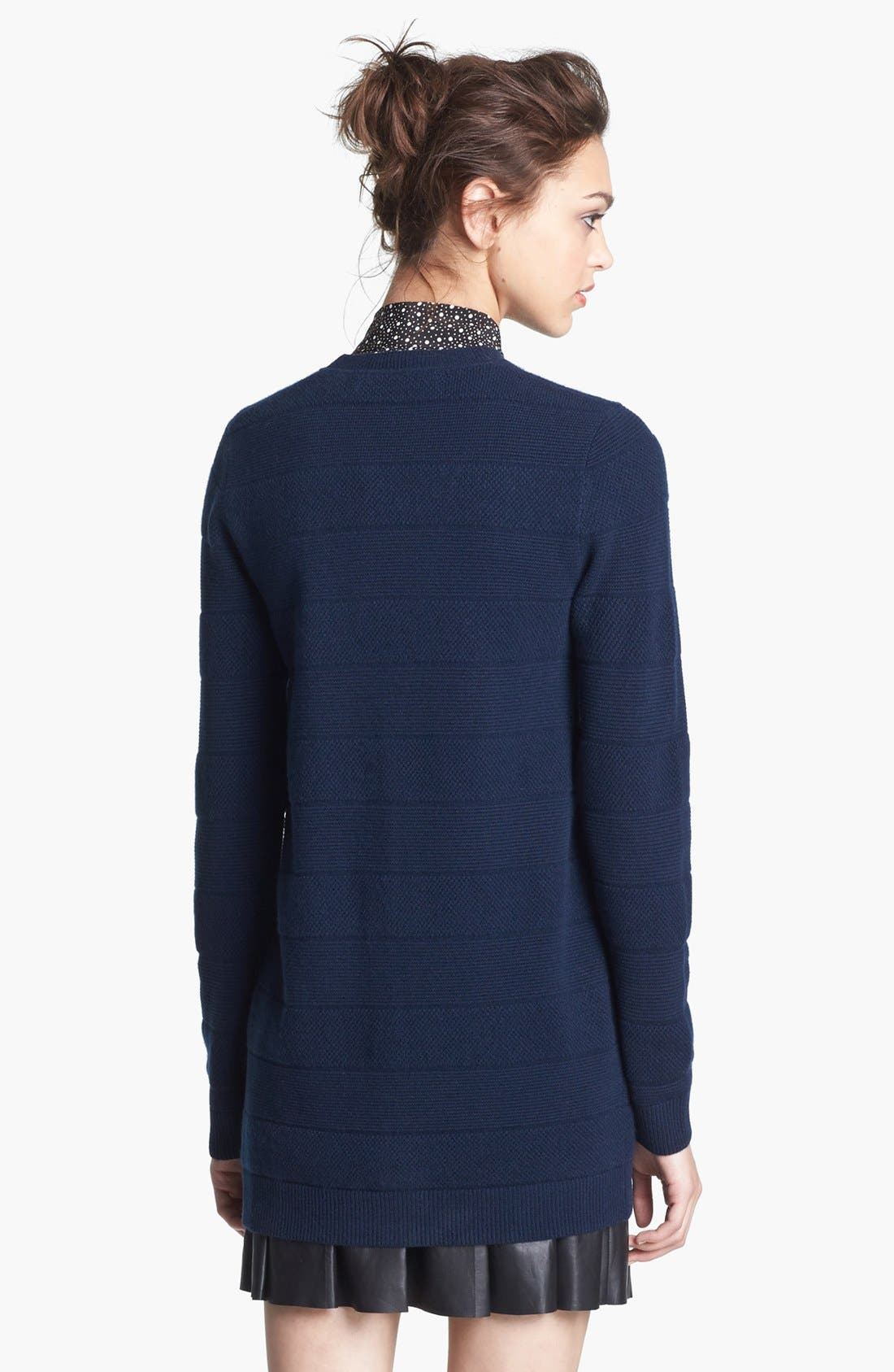Alternate Image 3  - Miss Wu 'Polimero' Textured Stripe Cashmere Cardigan (Nordstrom Exclusive)