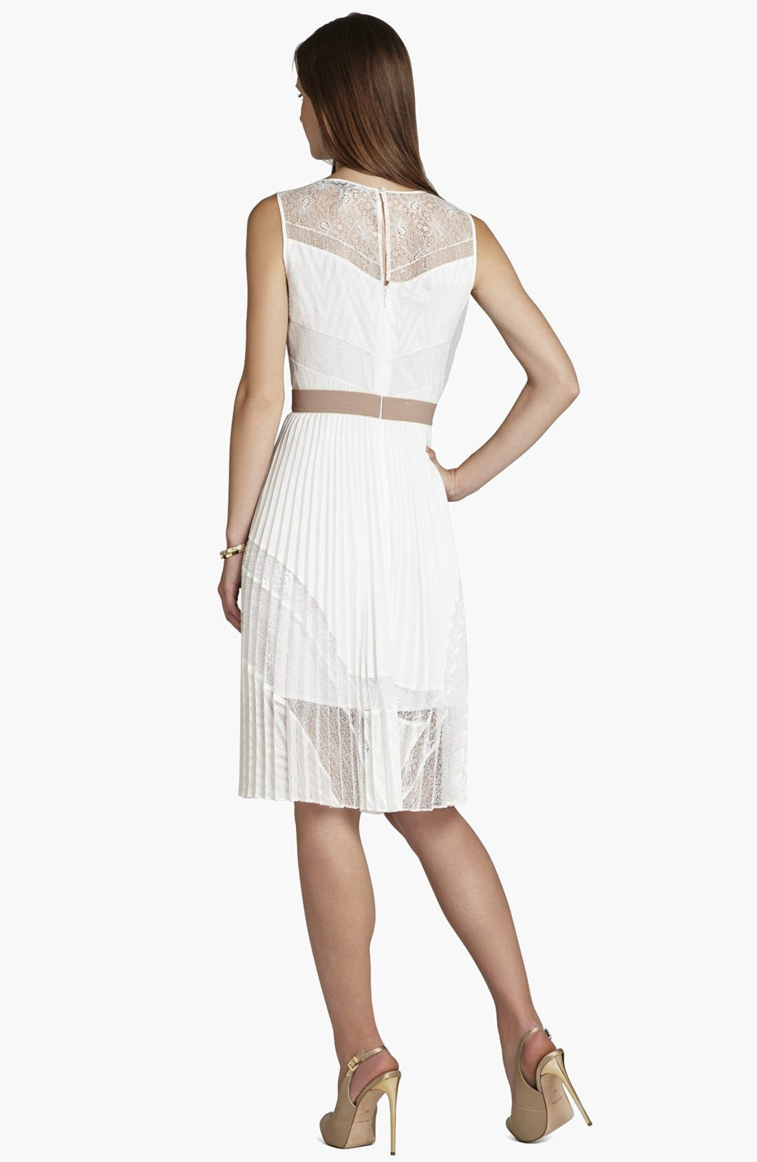 Alternate Image 2  - BCBGMAXAZRIA Pleat Fit & Flare Dress