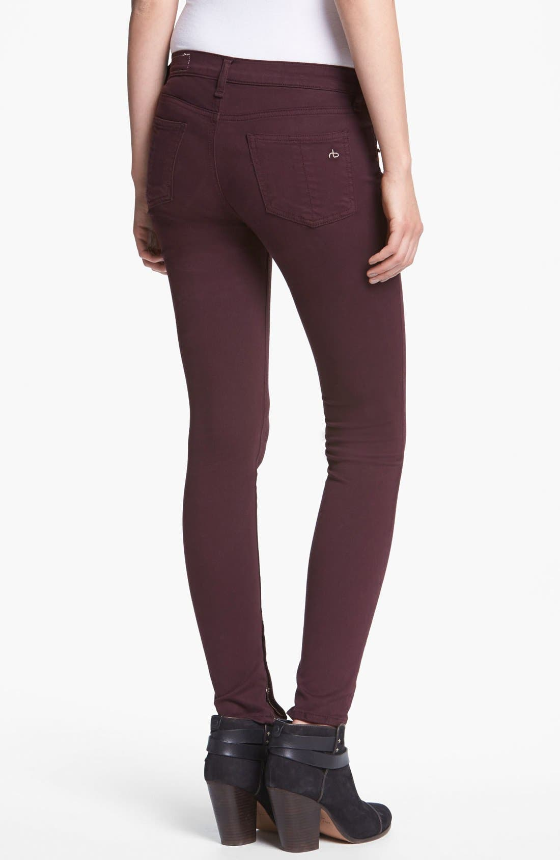 Alternate Image 2  - rag & bone/JEAN Plush Twill Leggings