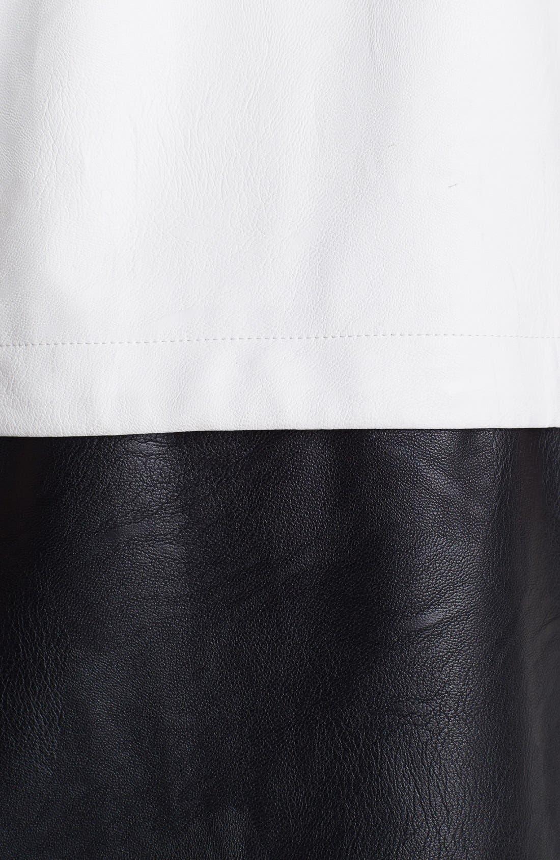 Alternate Image 3  - ASTR Colorblock Faux Leather Vest