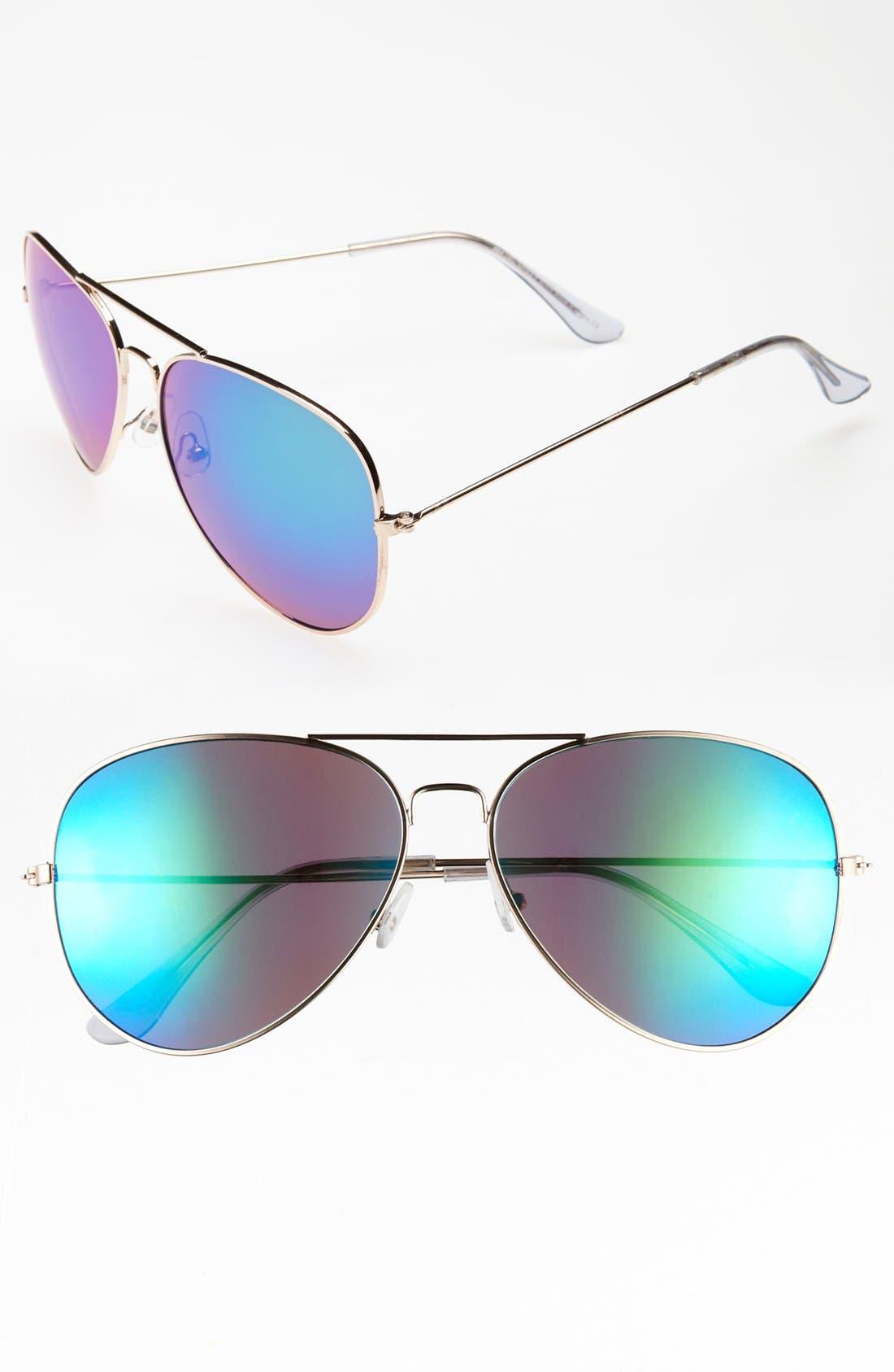 Main Image - KW 'Flight M' Aviator Sunglasses