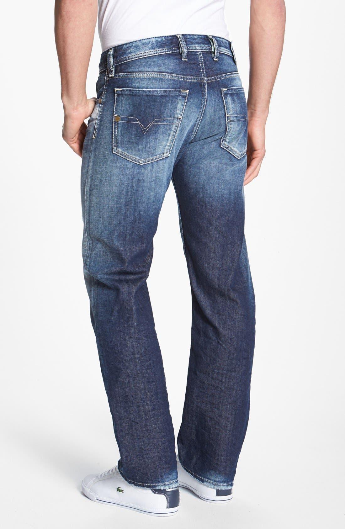 Alternate Image 1 Selected - DIESEL® 'Waykee' Straight Leg Jeans (0810L)