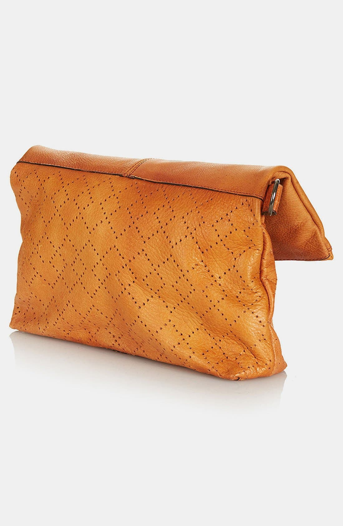 Alternate Image 4  - Topshop 'New Perforated' Leather Crossbody Bag