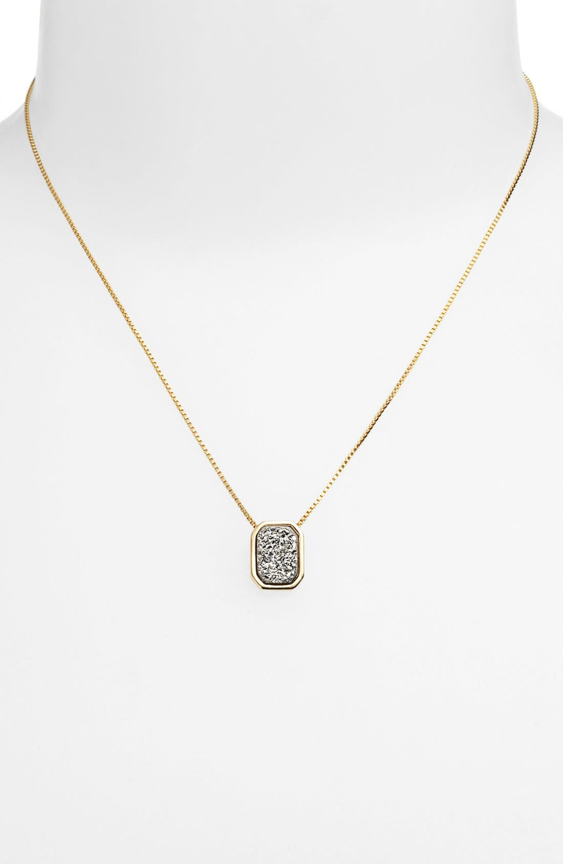 Alternate Image 1 Selected - Marcia Moran Octagon Drusy Pendant Necklace (Online Only)