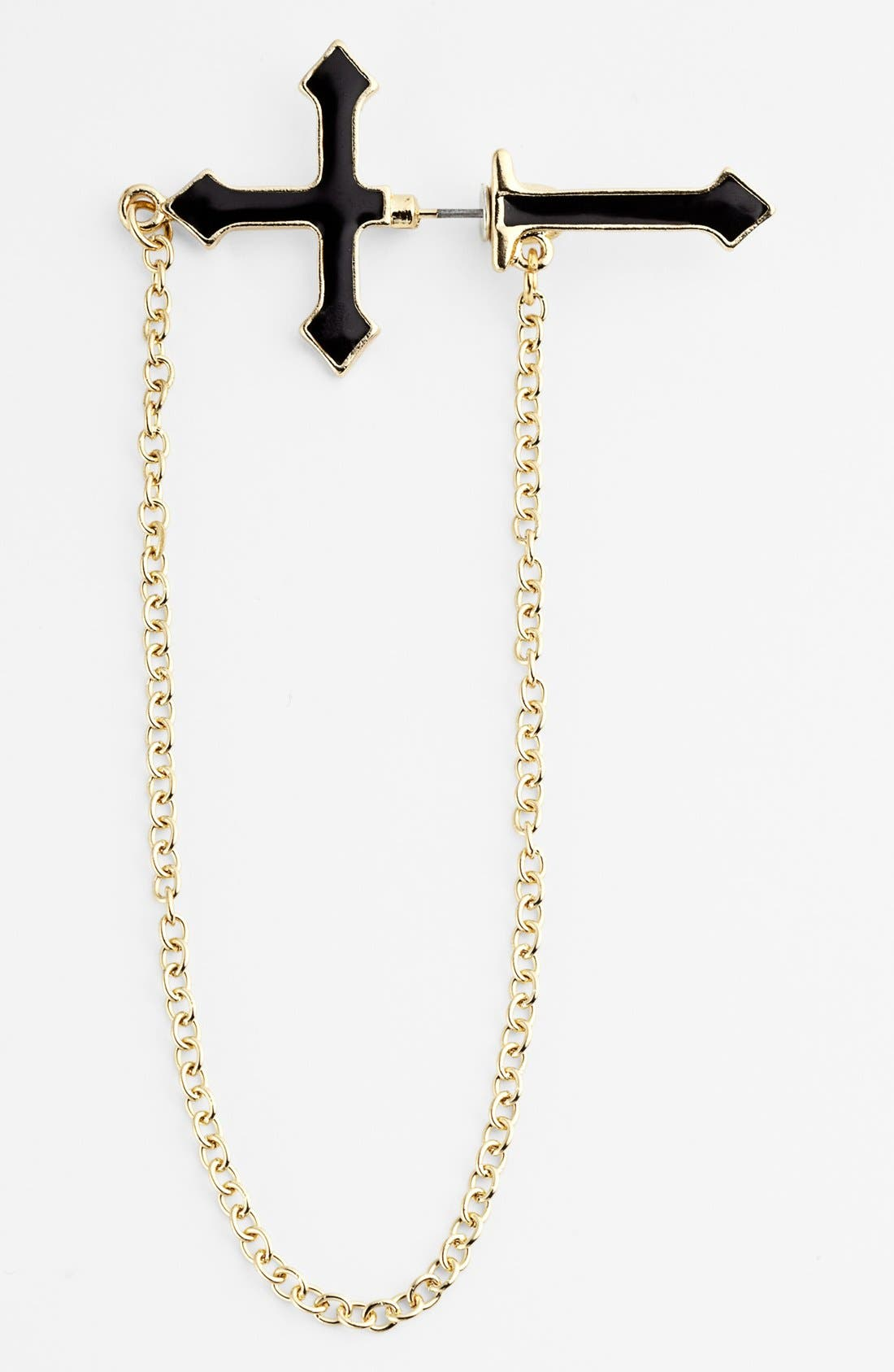 Alternate Image 1 Selected - Orion Single Cross & Chain Illusion Earring