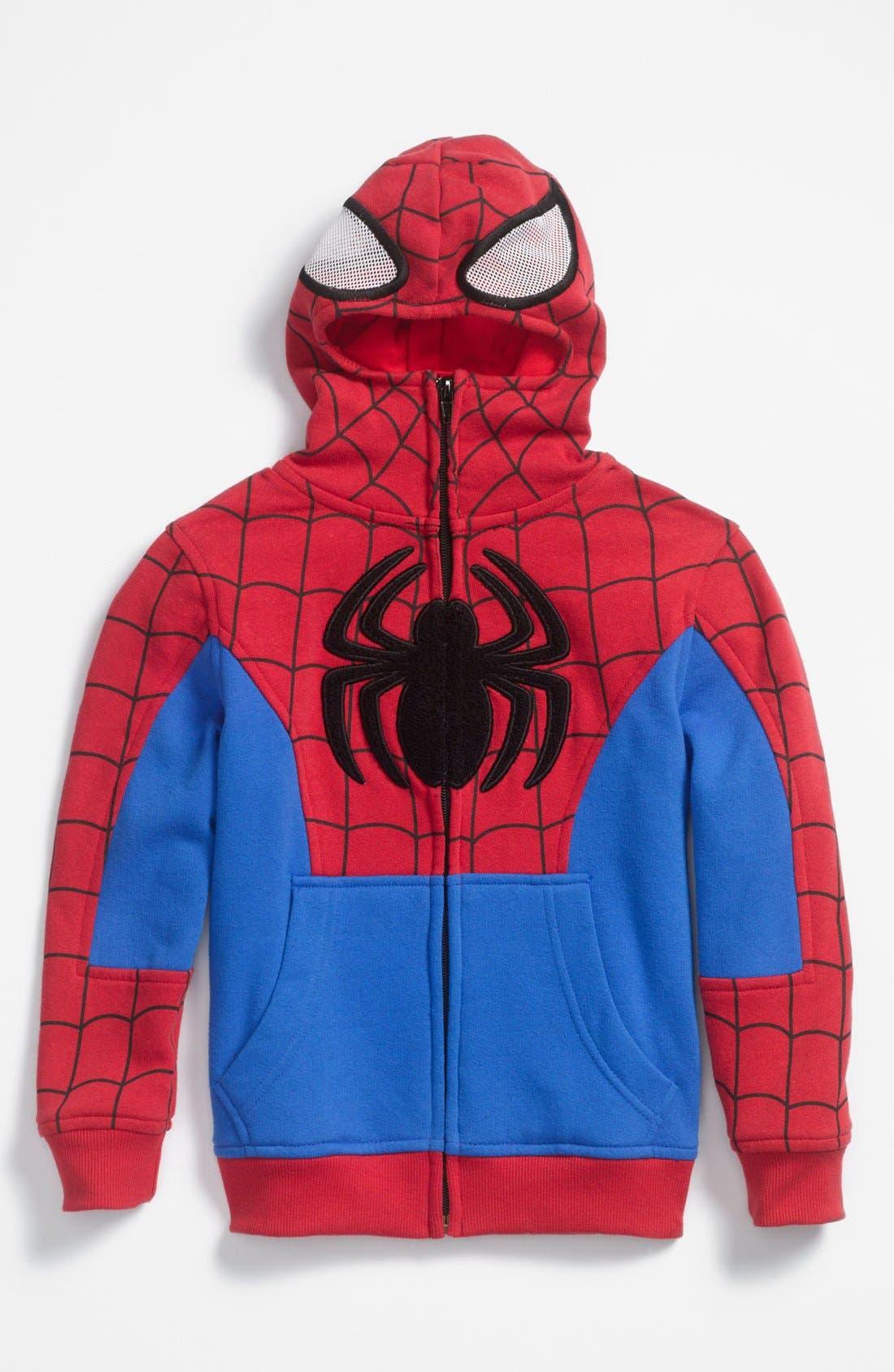 Alternate Image 1 Selected - Jem 'Spider-Man®' Hoodie (Little Boys)