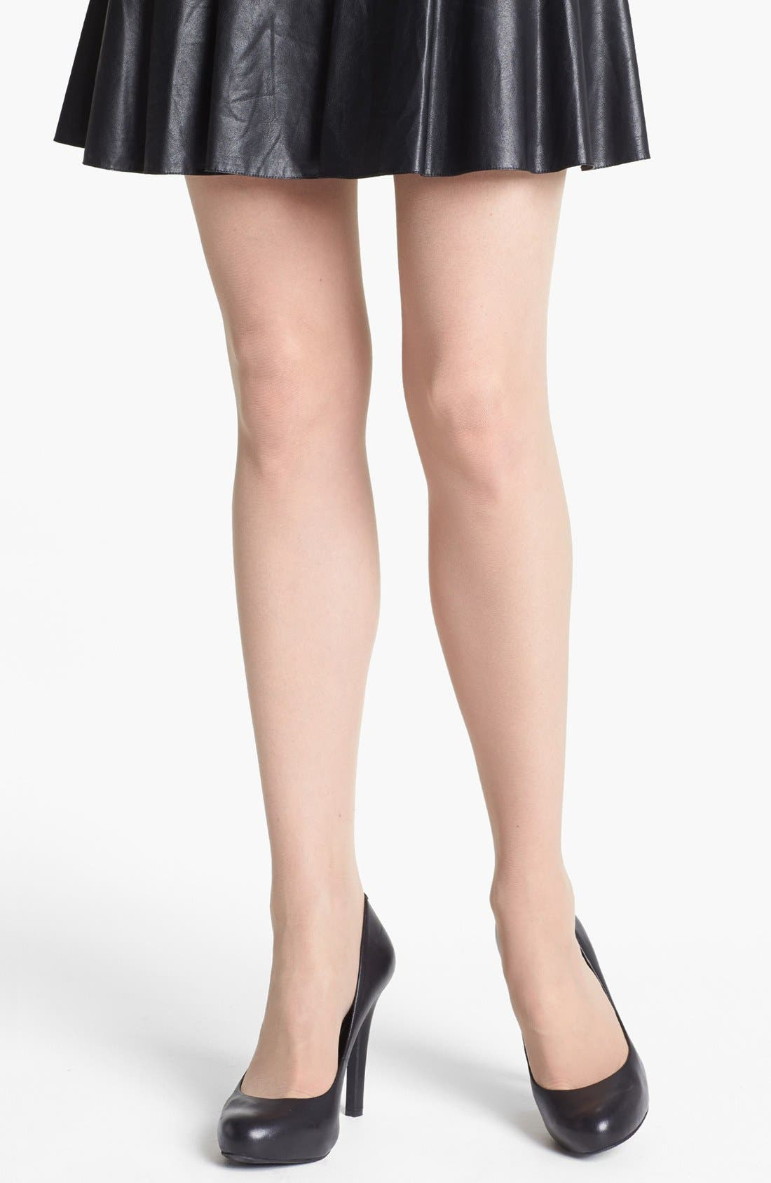 Alternate Image 2  - Nordstrom Back Seam Pantyhose