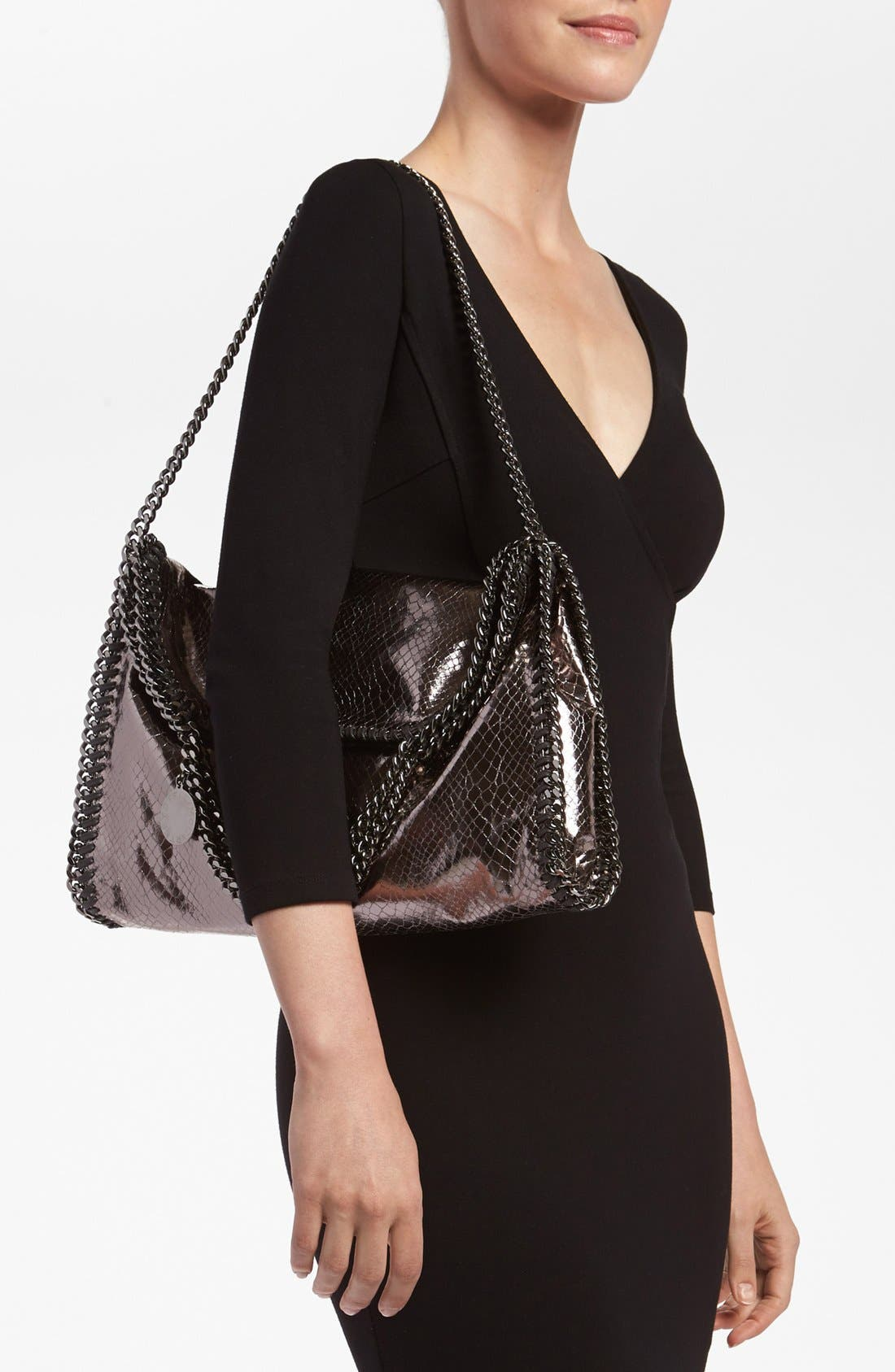 Alternate Image 2  - Stella McCartney 'Falabella' Metallic Snake Print Foldover Tote, Small