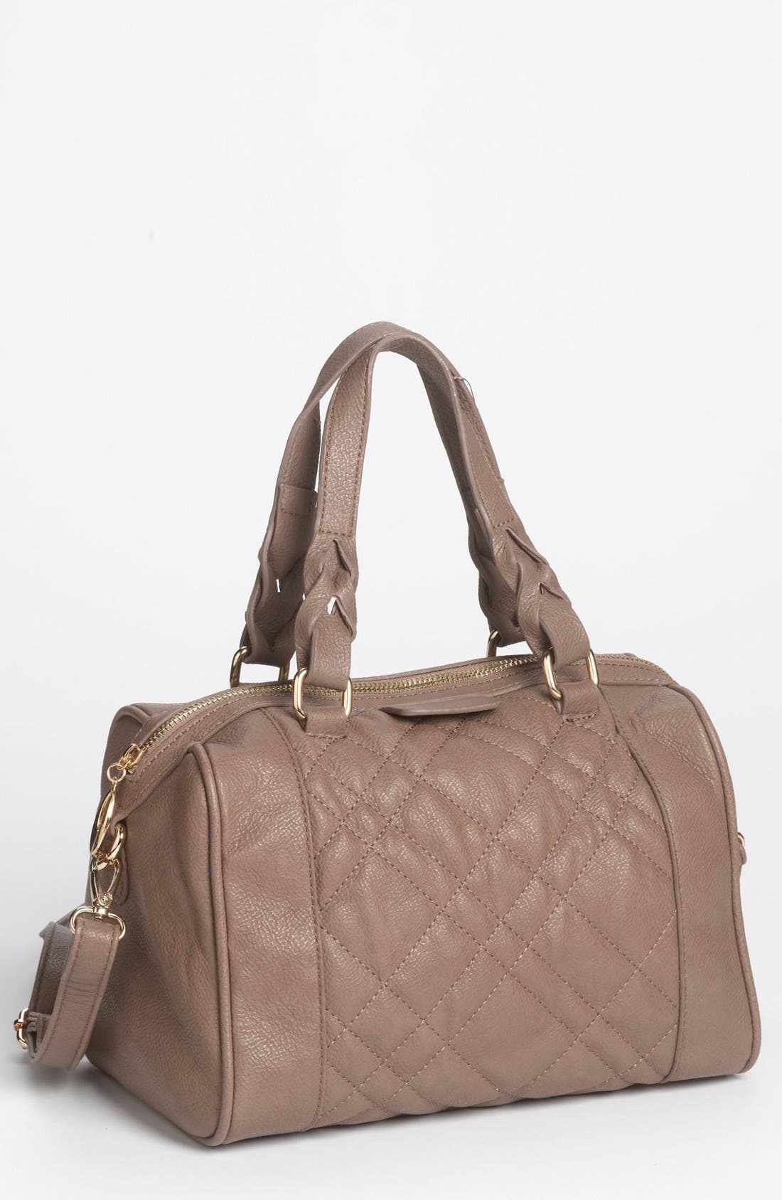 Alternate Image 1 Selected - Emperia Quilted Faux Leather Mini Satchel (Juniors) (Online Only)