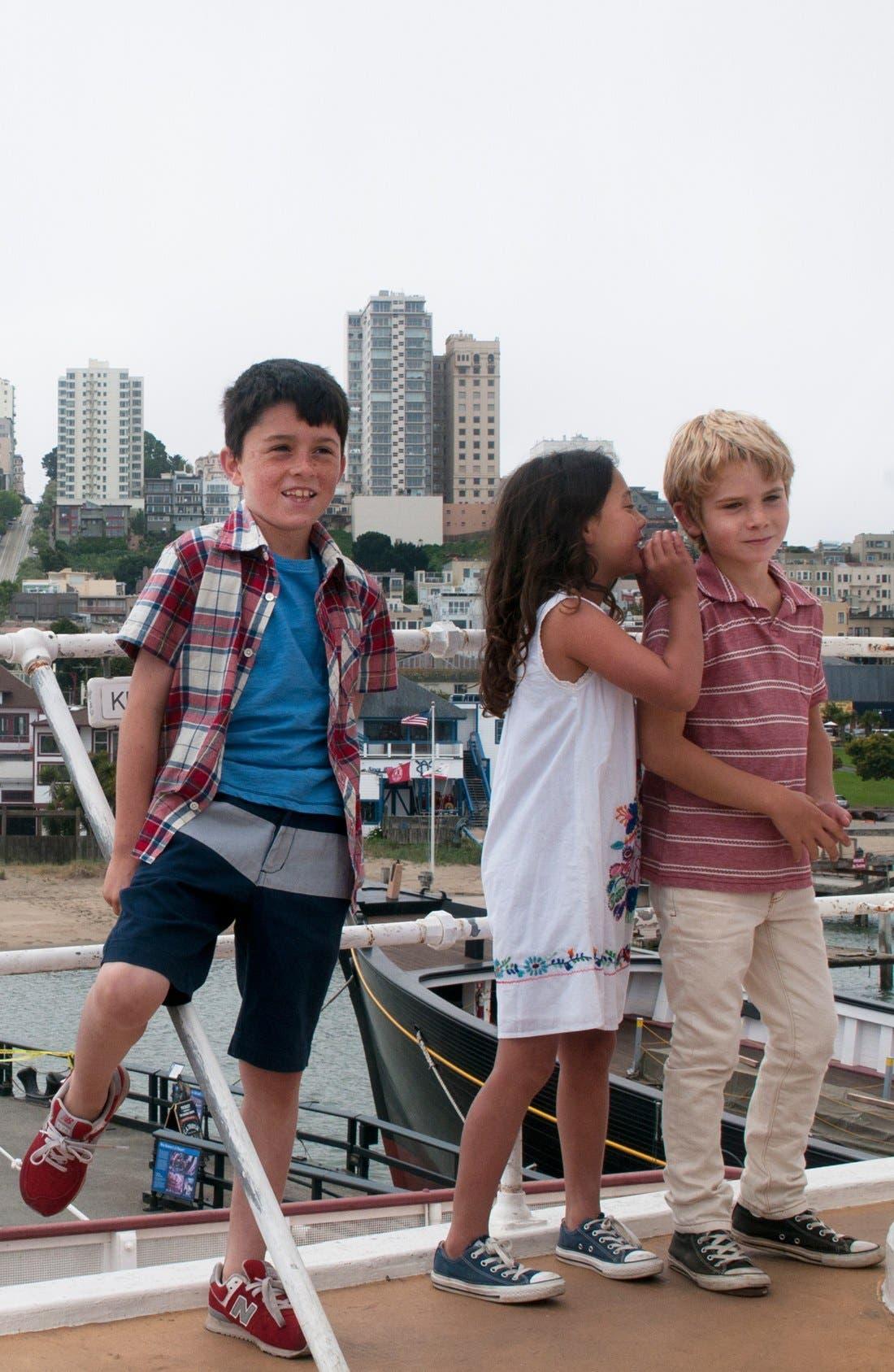 Alternate Image 2  - Peek 'Baxter Plaid' Short Sleeve Sport Shirt (Toddler Boys, Little Boys & Big Boys)