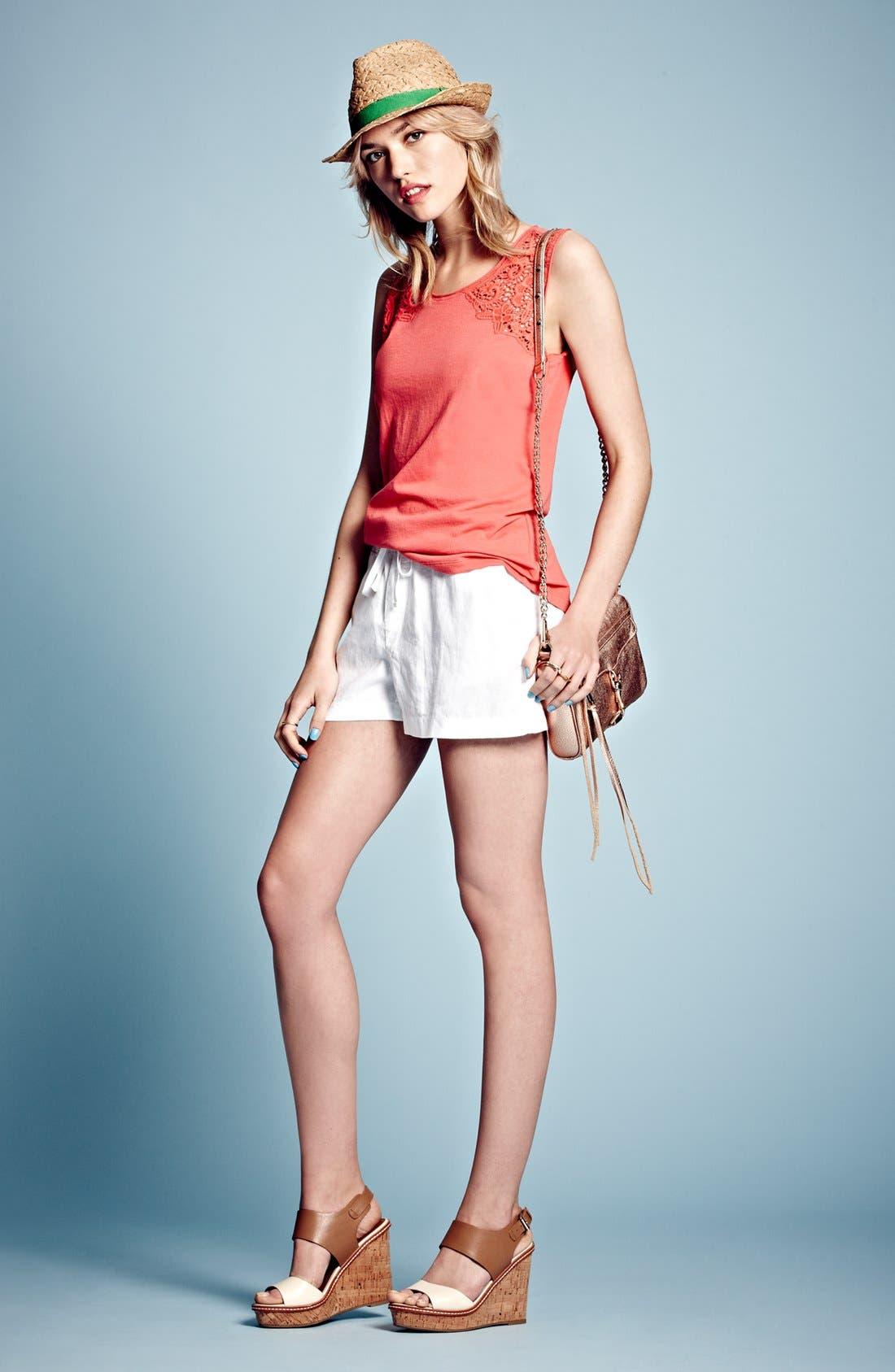 Alternate Image 5  - Caslon® Drawstring Linen Shorts (Regular & Petite)