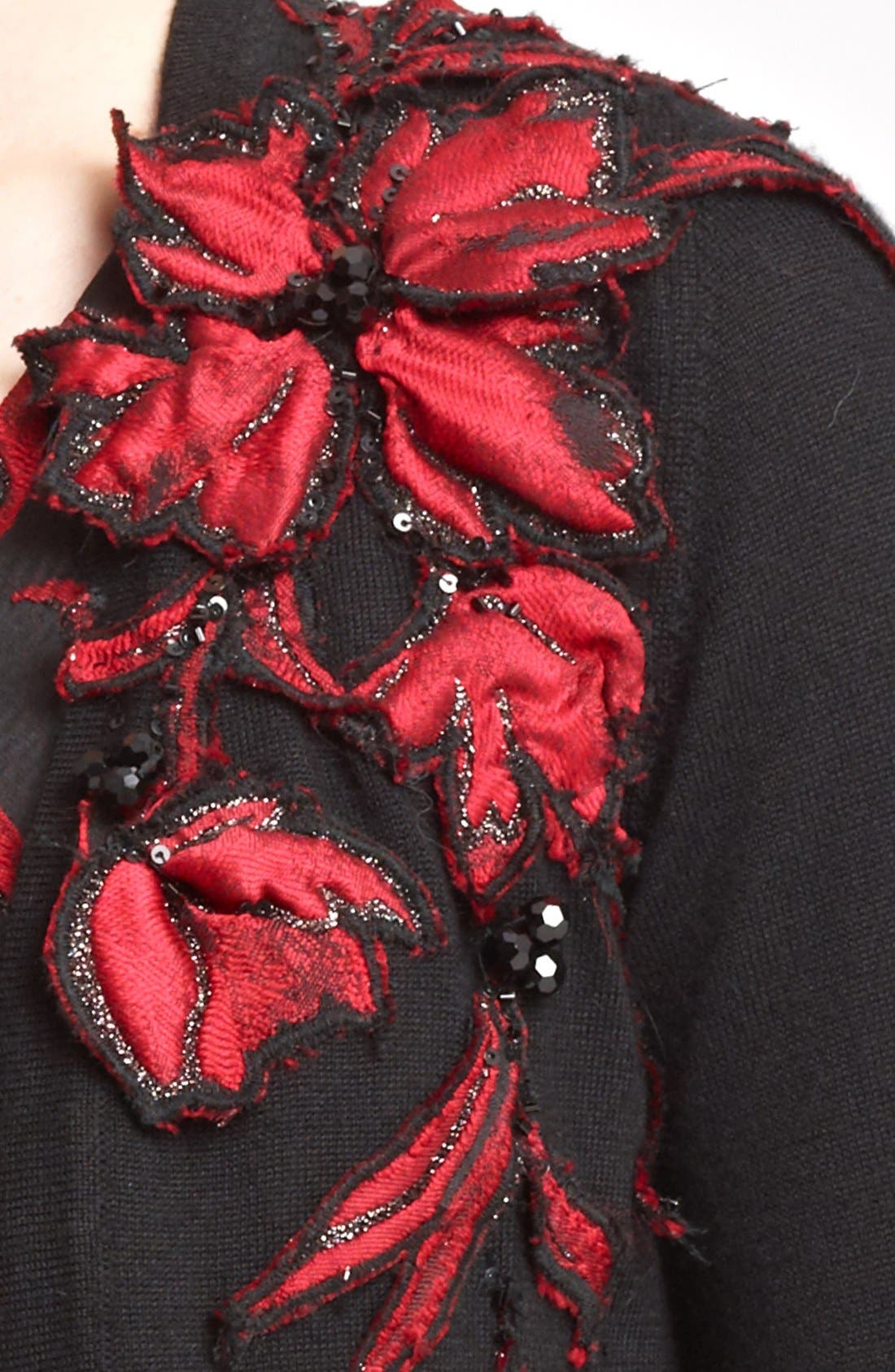 Alternate Image 4  - Oscar de la Renta Floral Embroidered Bolero