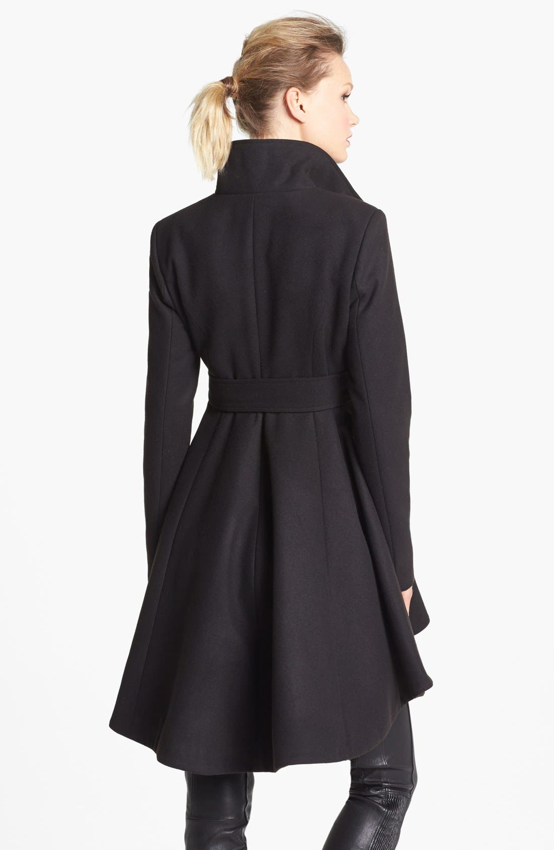 Alternate Image 2  - BB Dakota High/Low Skirted Coat