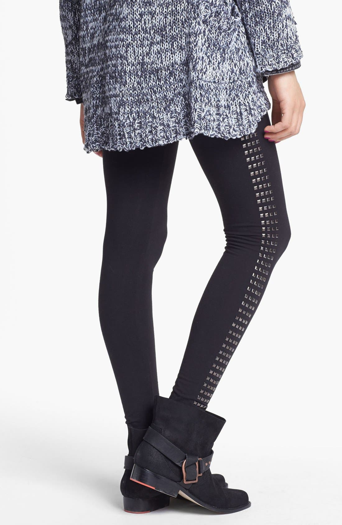 Alternate Image 2  - Rubbish® Square Studded Leggings (Juniors)