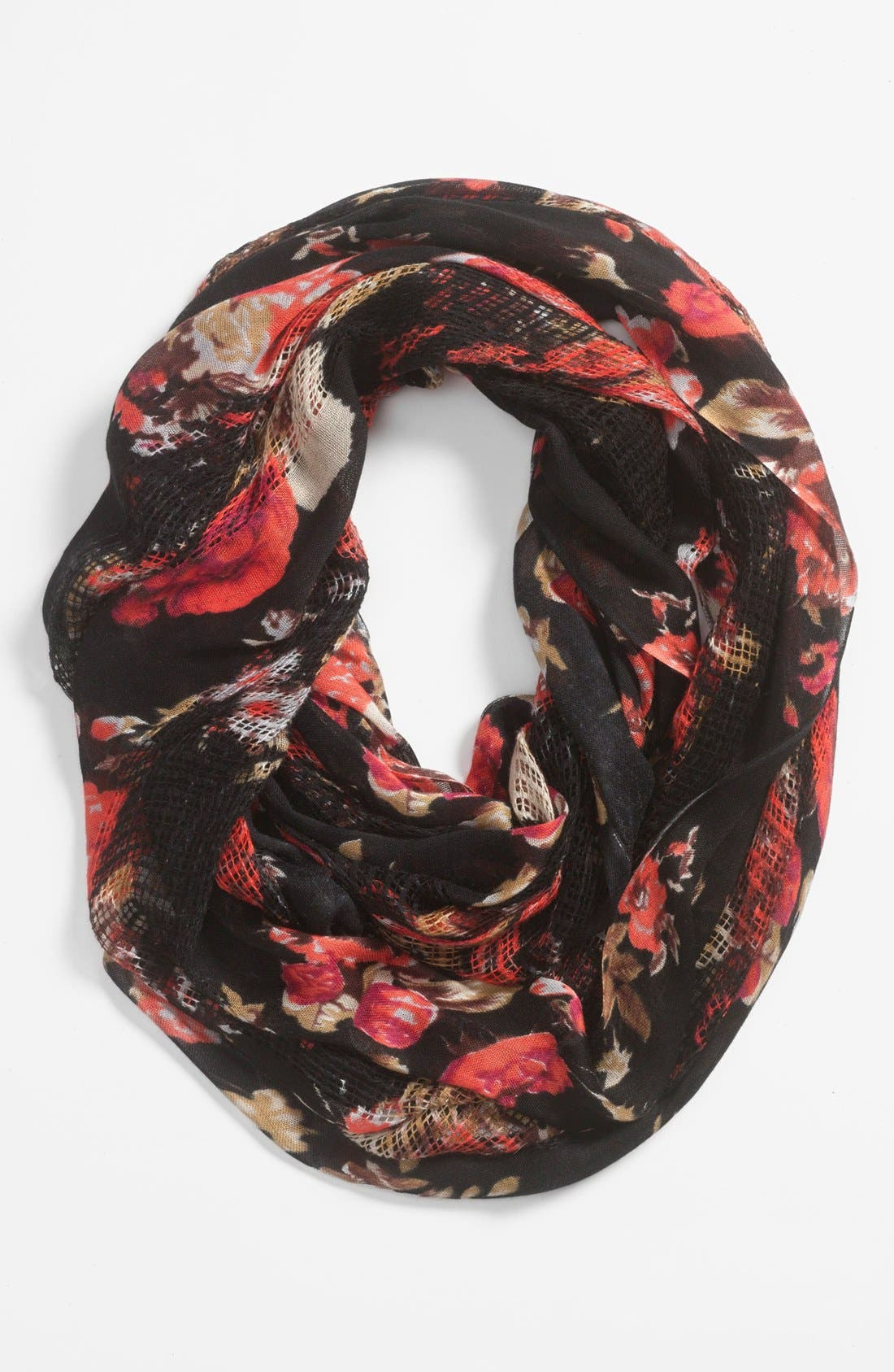 Main Image - BP. Floral Woven Infinity Scarf (Juniors)