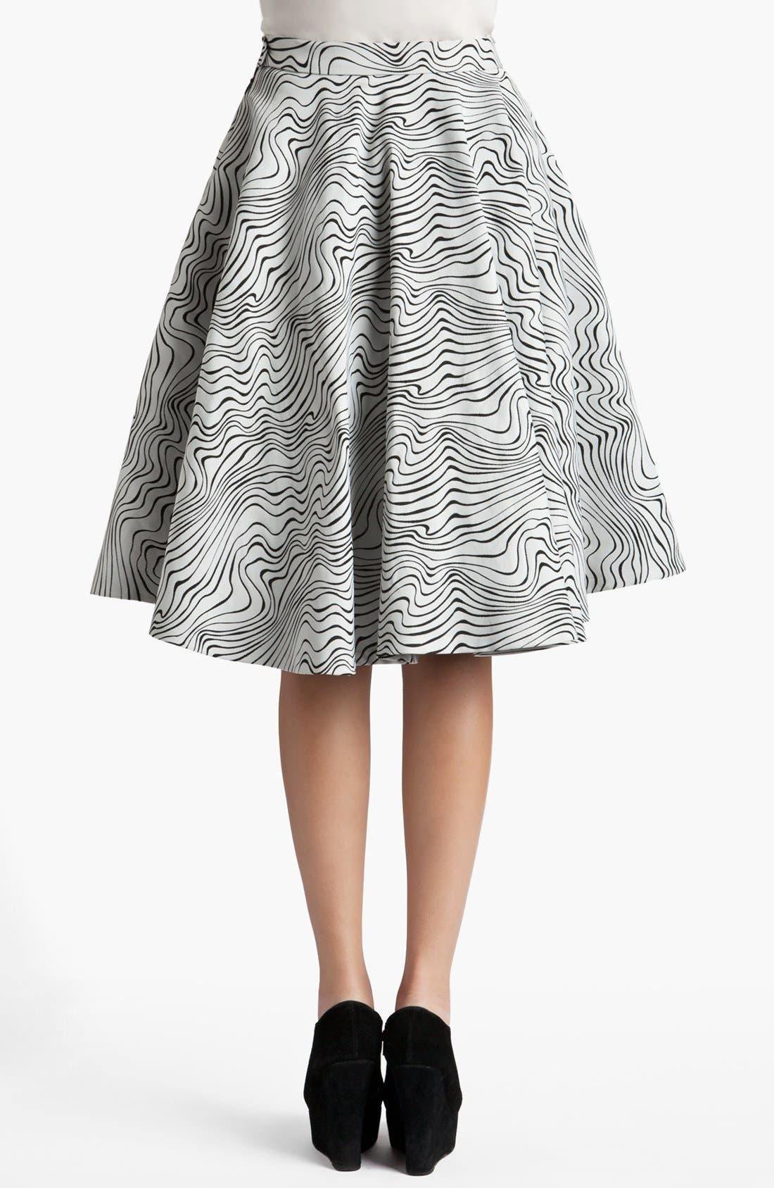 Alternate Image 2  - MSGM 'Optical Wave' Full Skirt