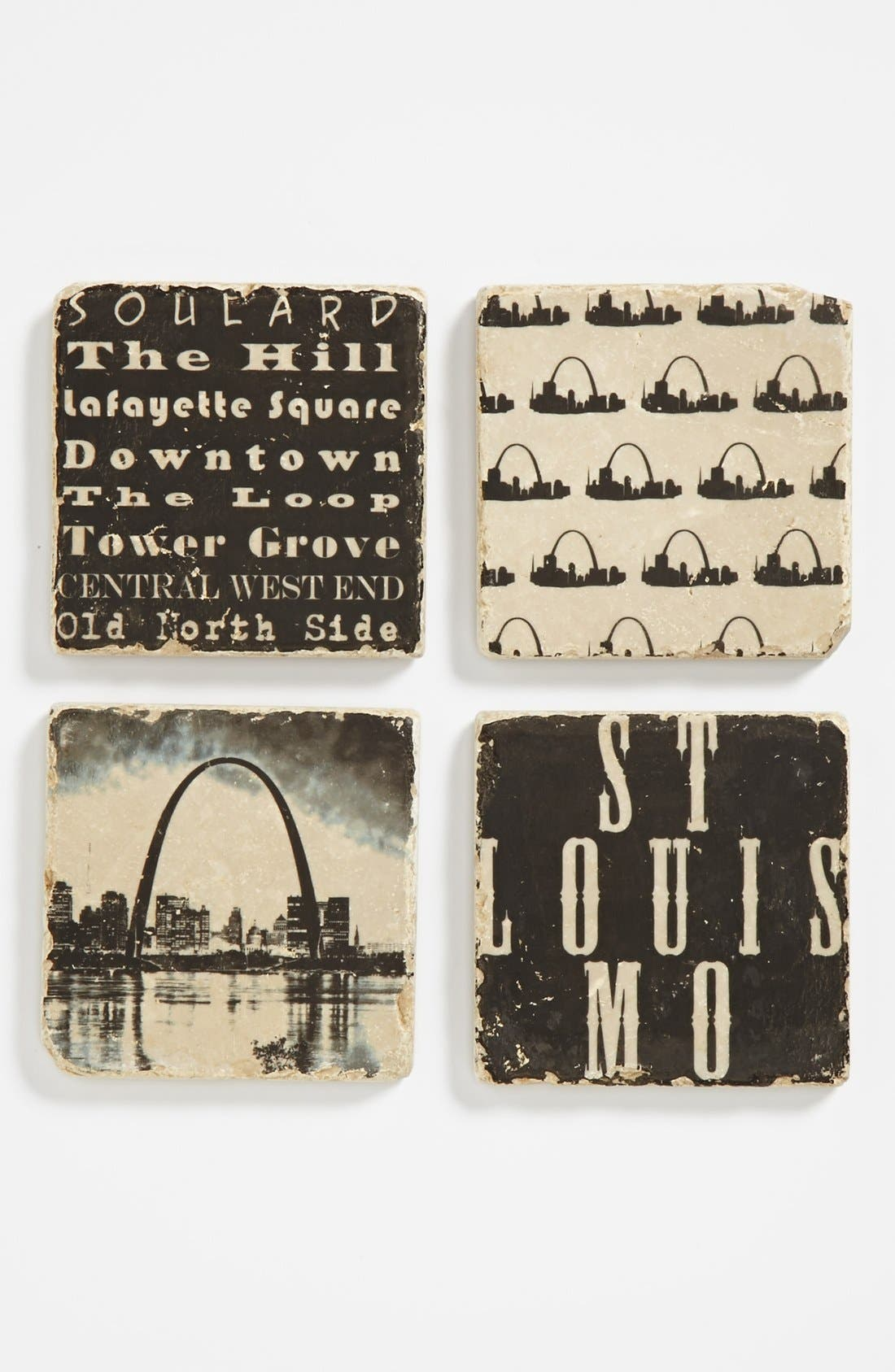 Alternate Image 1 Selected - 'St. Louis' Marble Coasters (Set of 4)