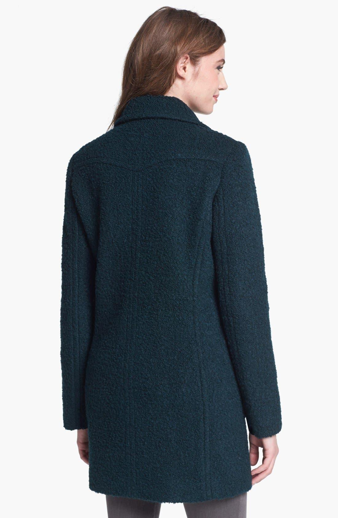 Alternate Image 2  - DKNY Double Breasted Bouclé Coat (Regular & Petite)