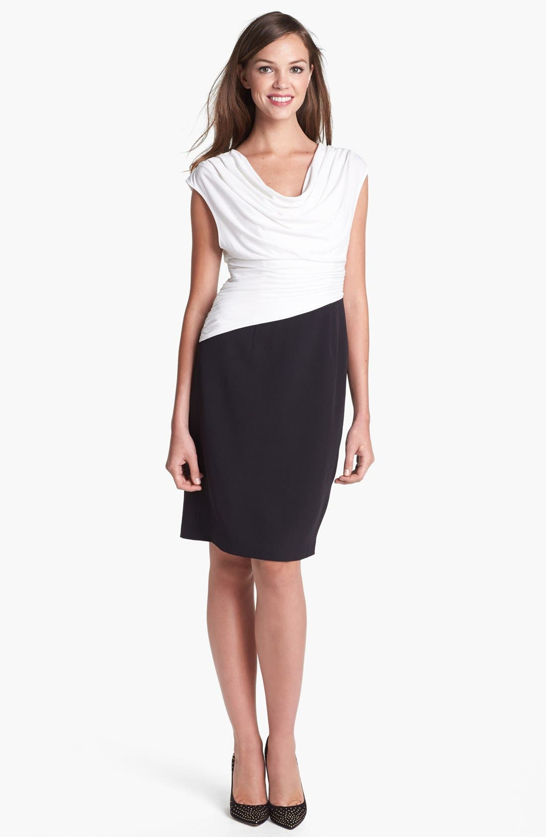 Alternate Image 1 Selected - Adrianna Papell Draped Neck Sheath Dress