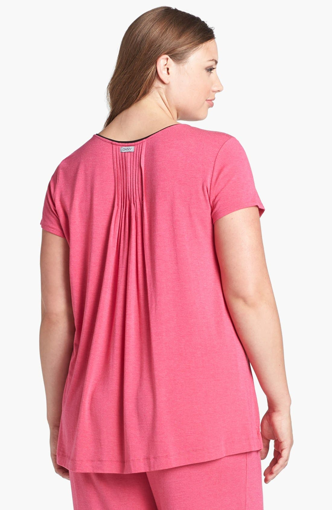 Alternate Image 2  - DKNY '7 Easy Pieces' Pintuck Top (Plus Size)