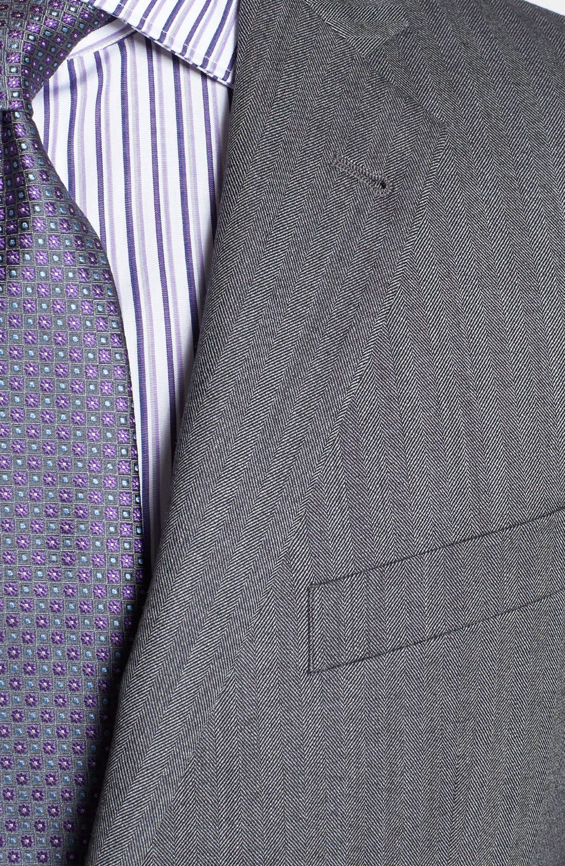 Alternate Image 2  - Joseph Abboud 'Profile/Hybrid' Trim Fit Herringbone Sportcoat
