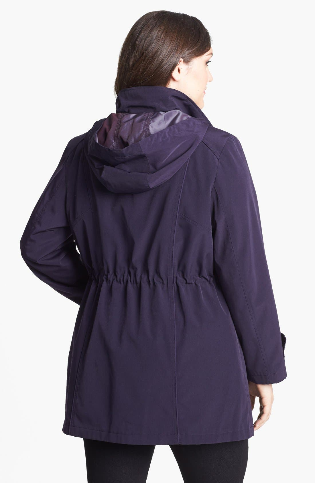 Alternate Image 2  - Gallery Anorak with Detachable Hood & Liner (Plus Size)