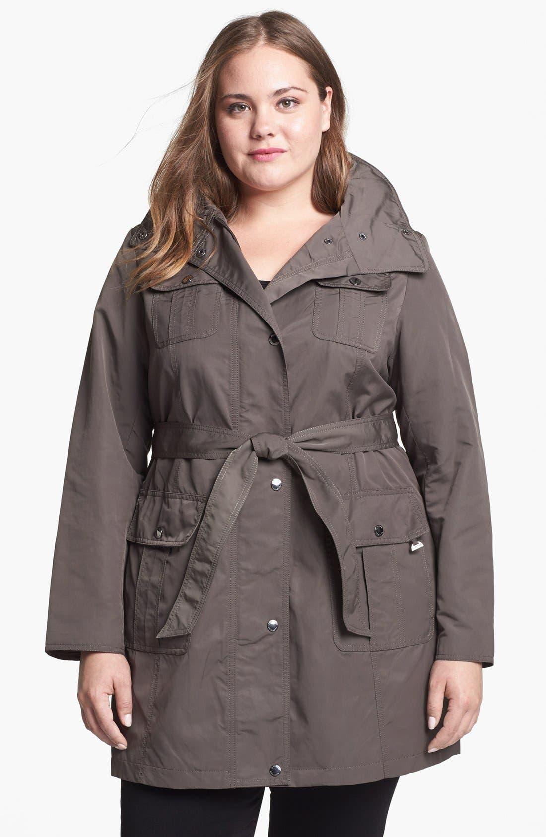 Alternate Image 5  - Ellen Tracy Trench Coat with Hidden Hood (Plus Size)