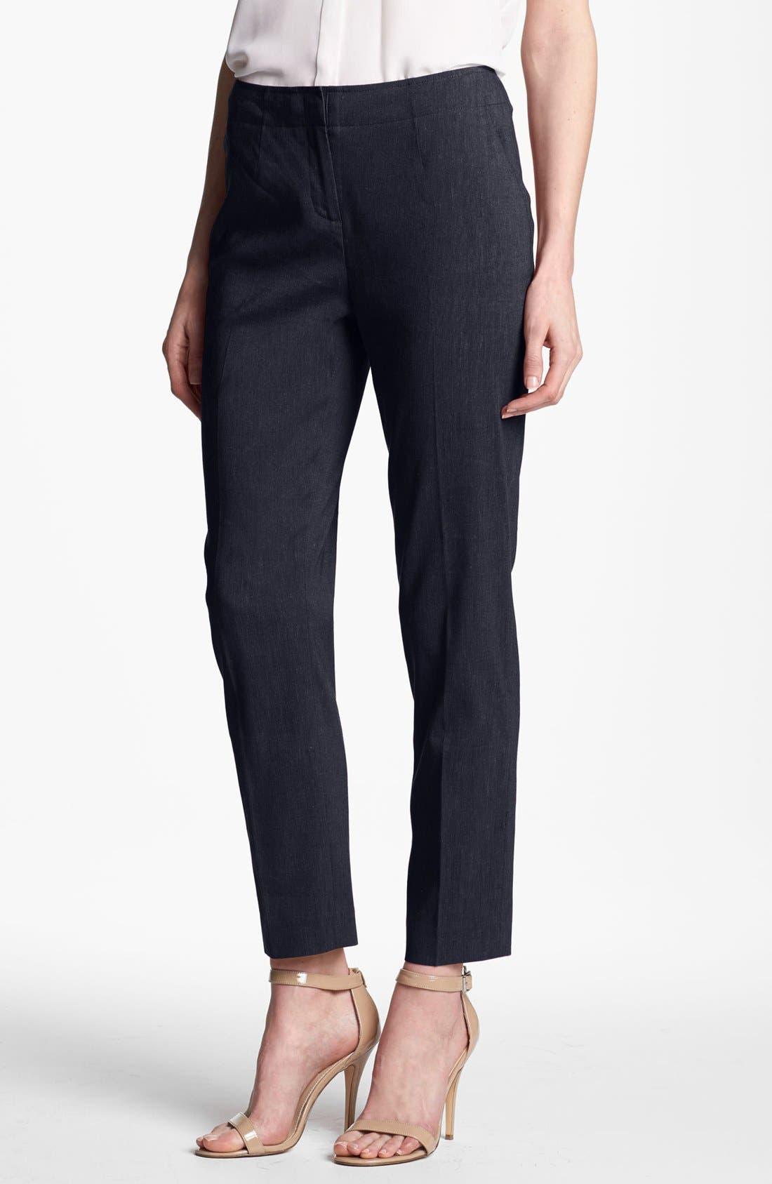Alternate Image 1 Selected - Halogen® 'Taylor' Linen Blend Crop Pants
